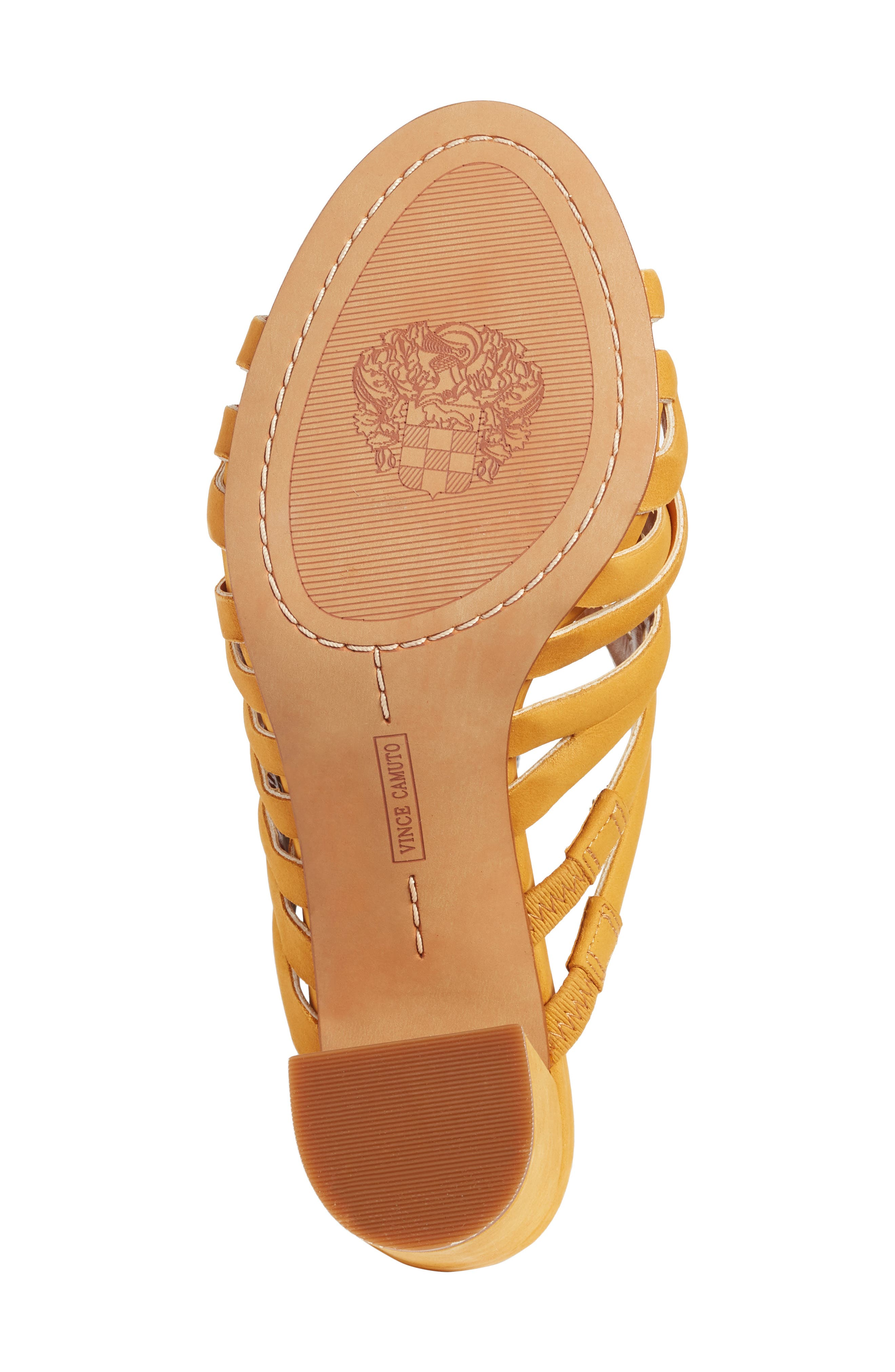 Raveana Cage Mule,                             Alternate thumbnail 6, color,                             MUSTARD YELLOW LEATHER