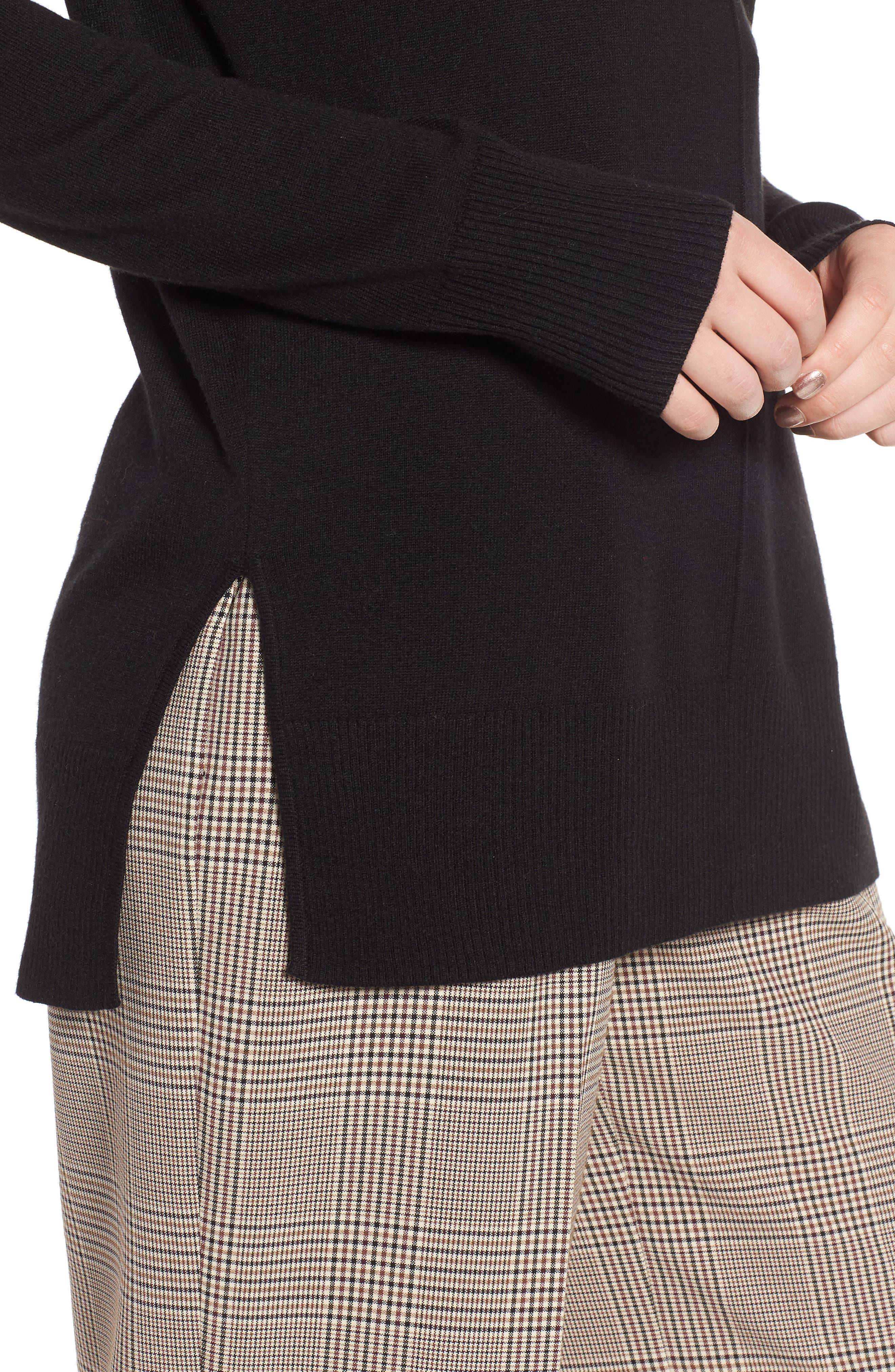 Side Slit Sweater,                             Alternate thumbnail 4, color,                             001