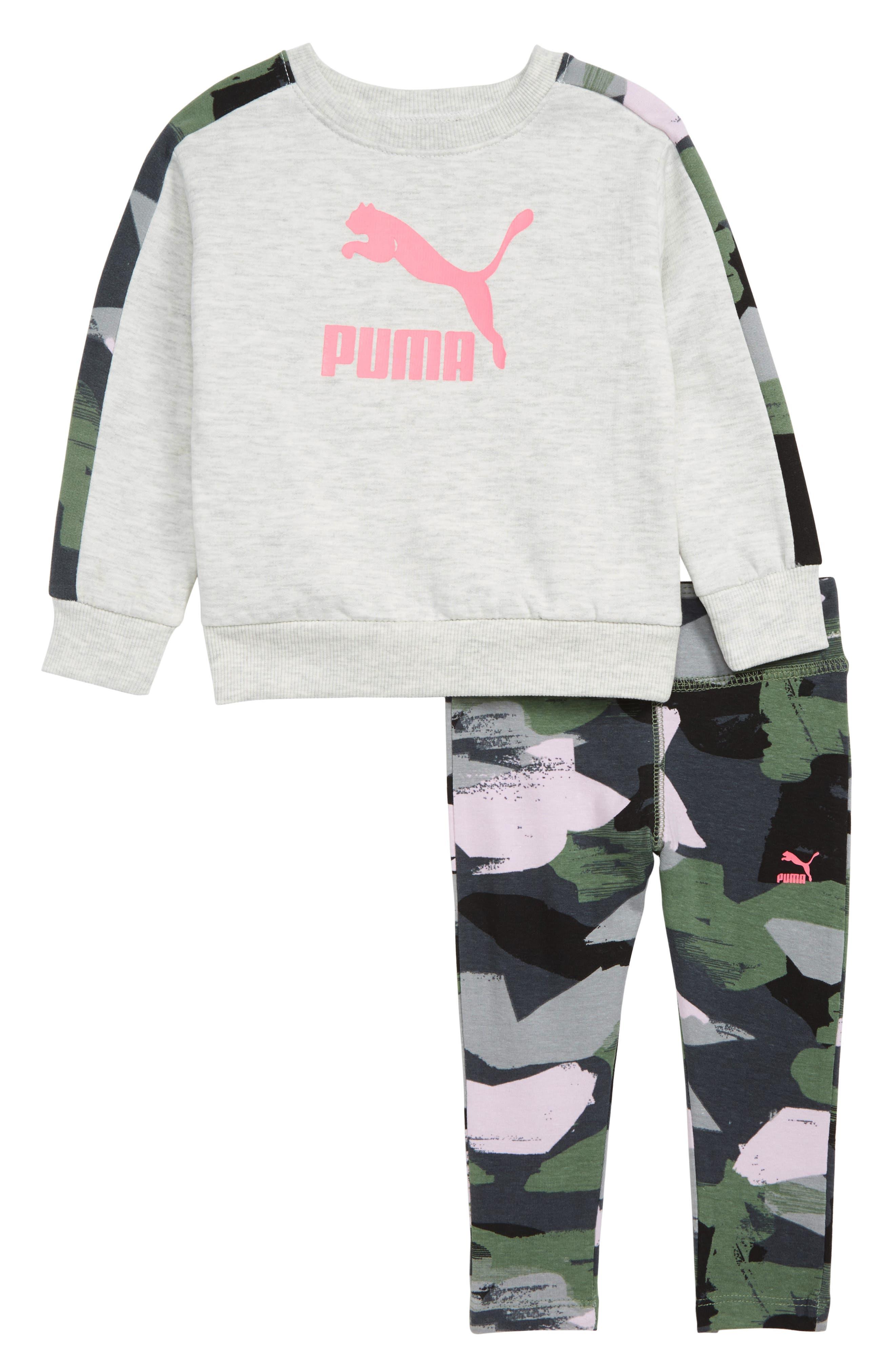 Infant Girls Puma Fleece Crewneck Sweatshirt  Leggings Set