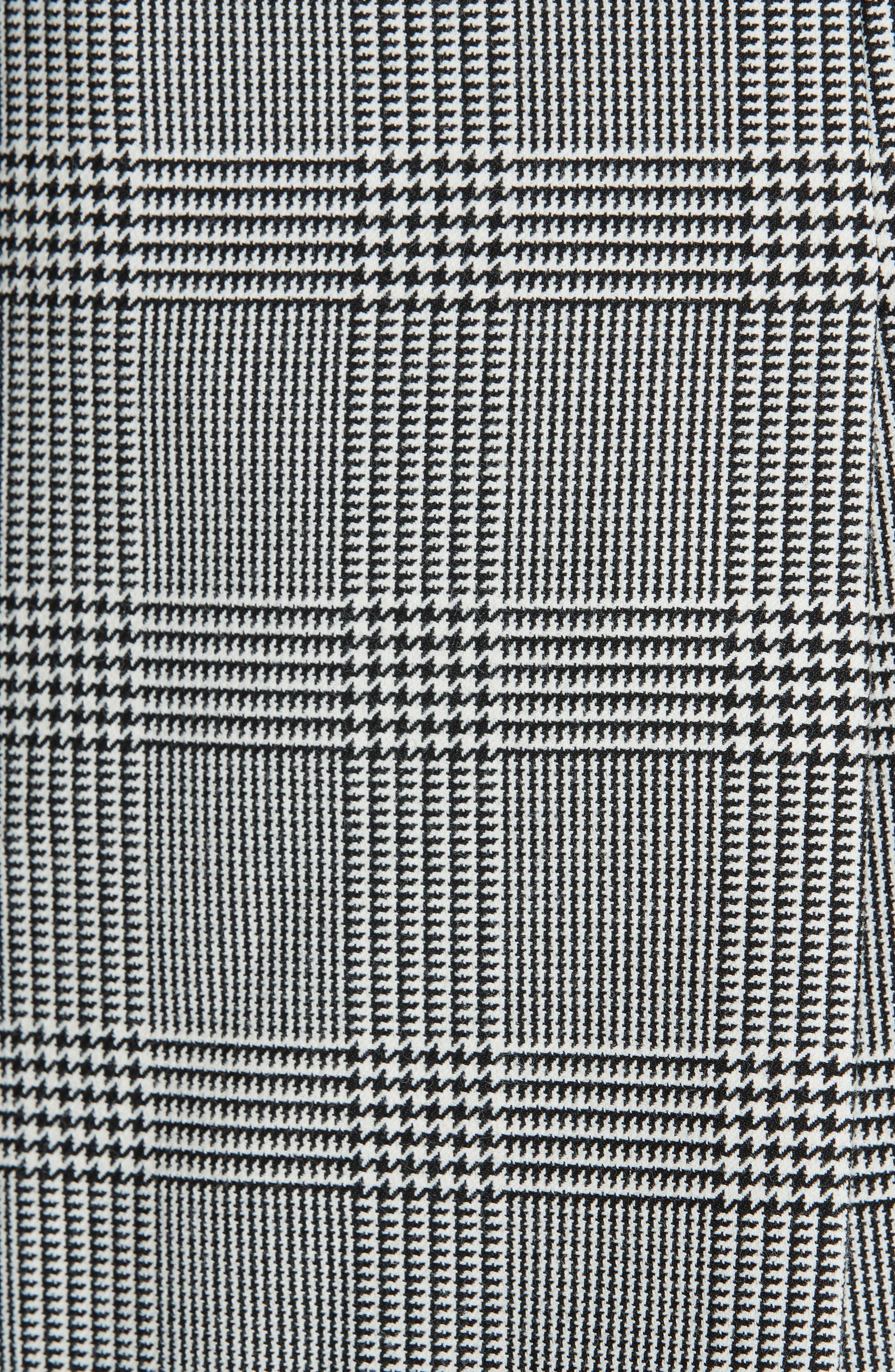 Plaid Blazer,                             Alternate thumbnail 6, color,                             BLACK/ WHITE