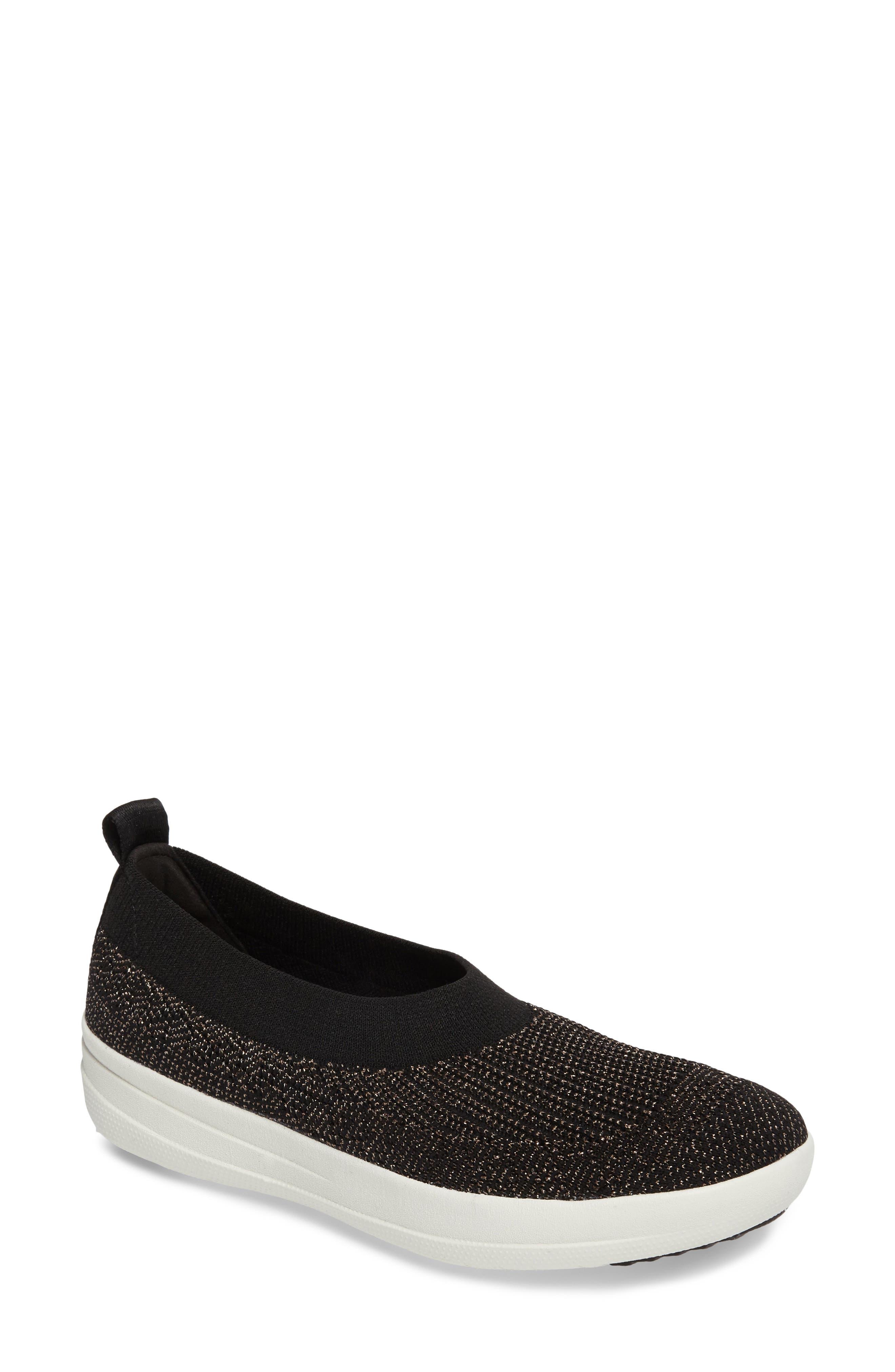 Uberknit<sup>™</sup> Slip-On Ballerina Sneaker,                             Main thumbnail 1, color,                             001