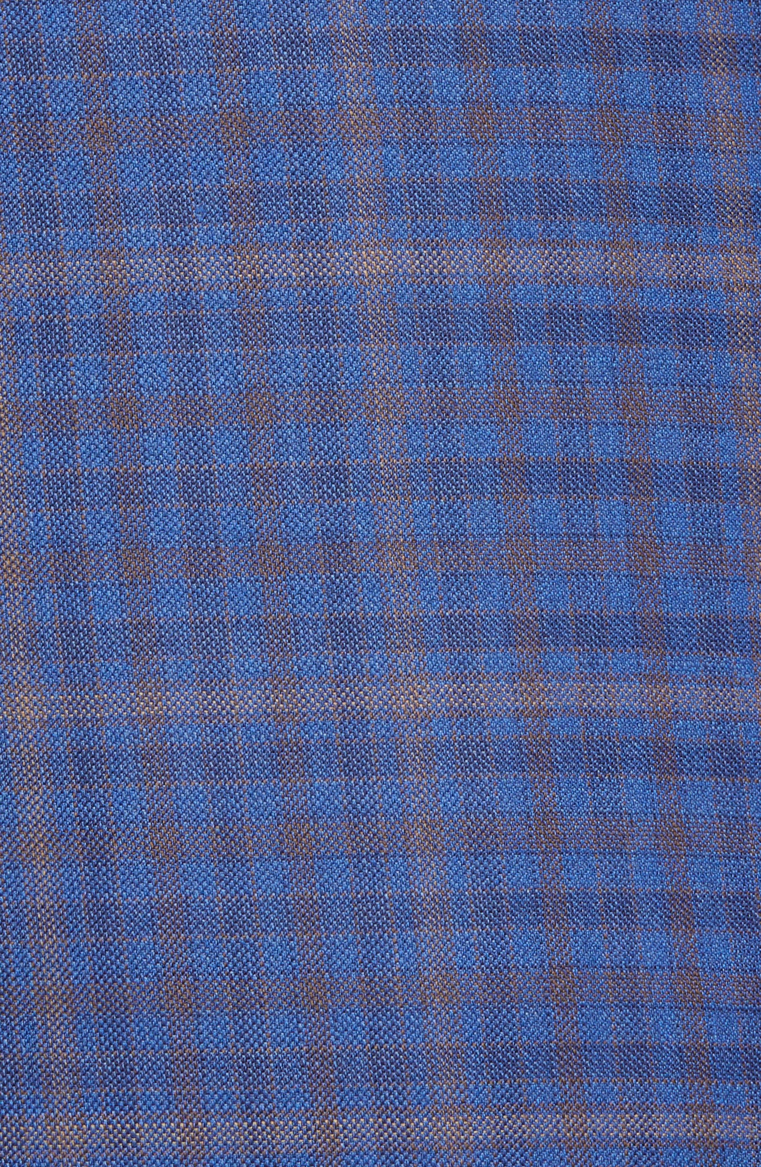 DAVID DONAHUE,                             Connor Classic Fit Plaid Wool Sport Coat,                             Alternate thumbnail 6, color,                             400
