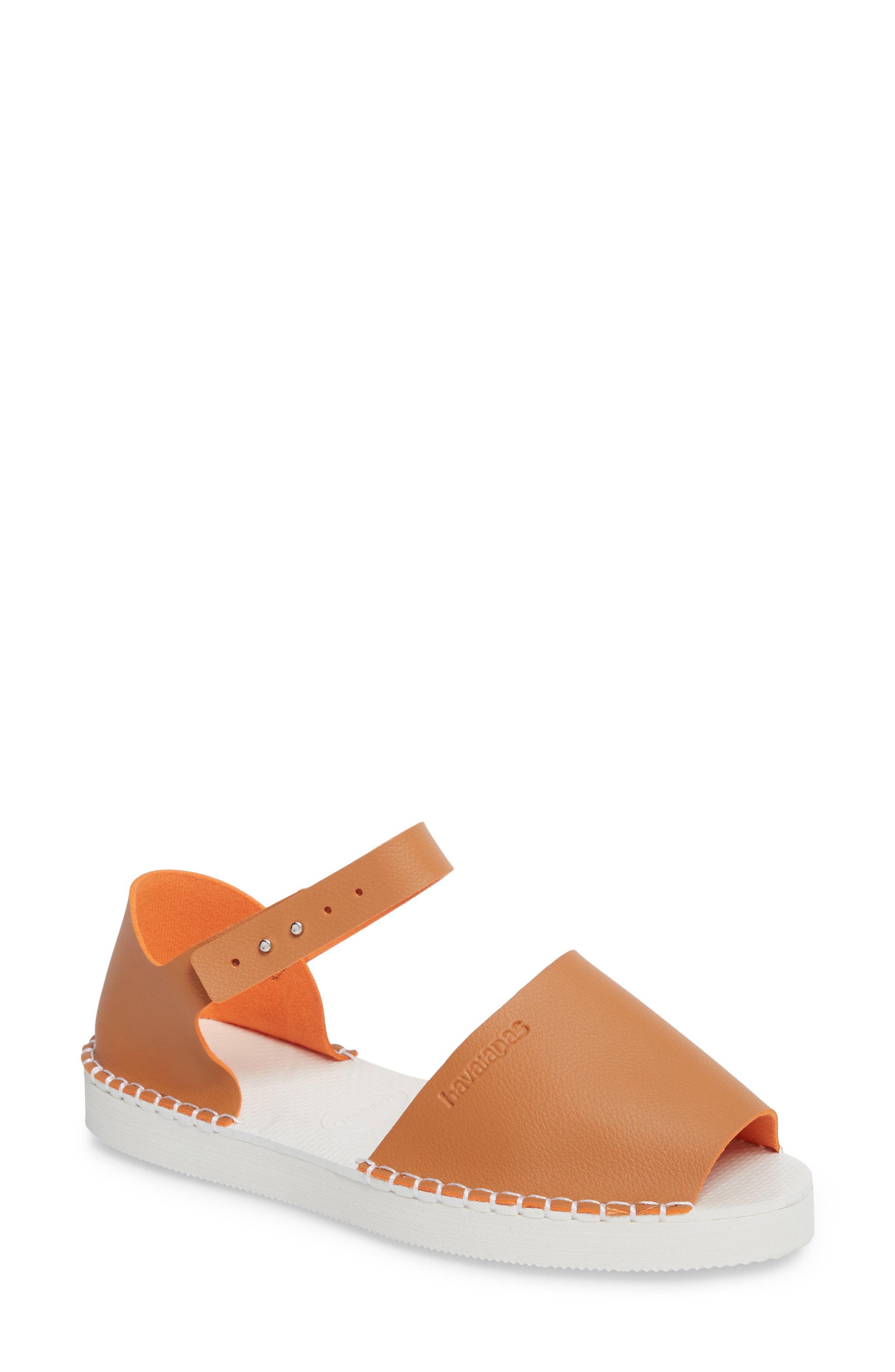 Flatform Fashion Sandal,                             Main thumbnail 1, color,                             CAMEL