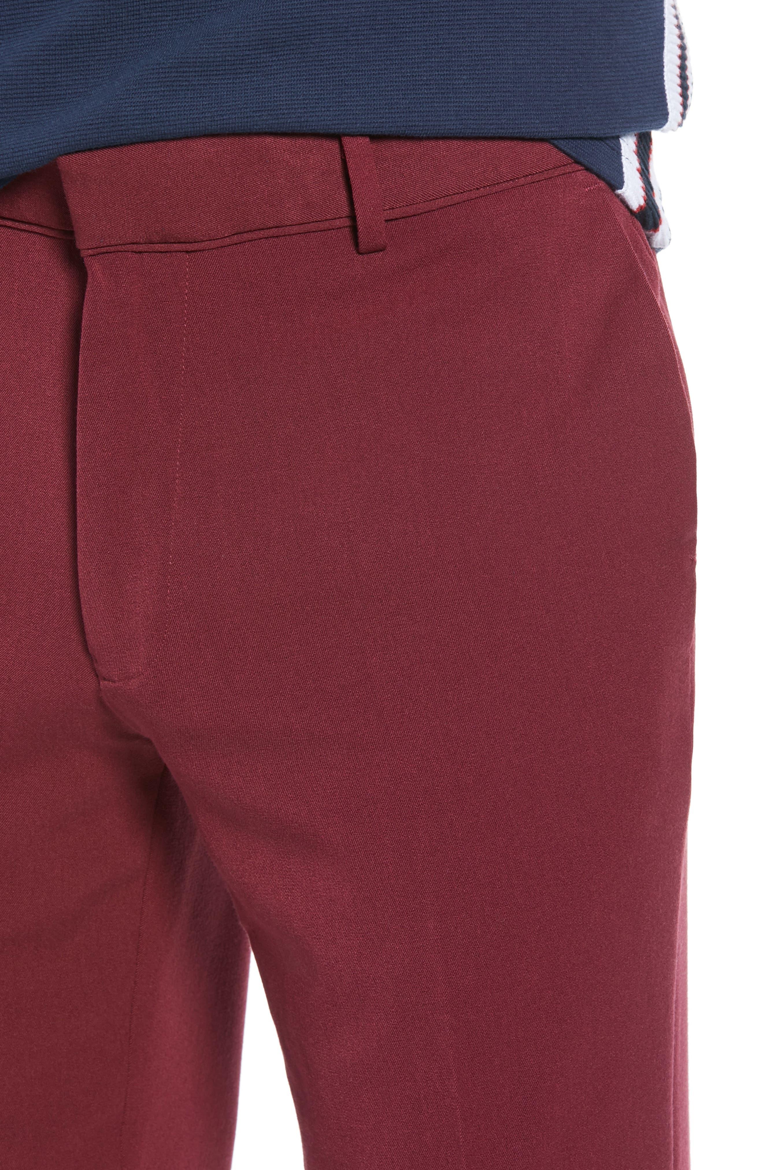 Skinny Fit Trousers,                             Alternate thumbnail 4, color,                             PURPLE