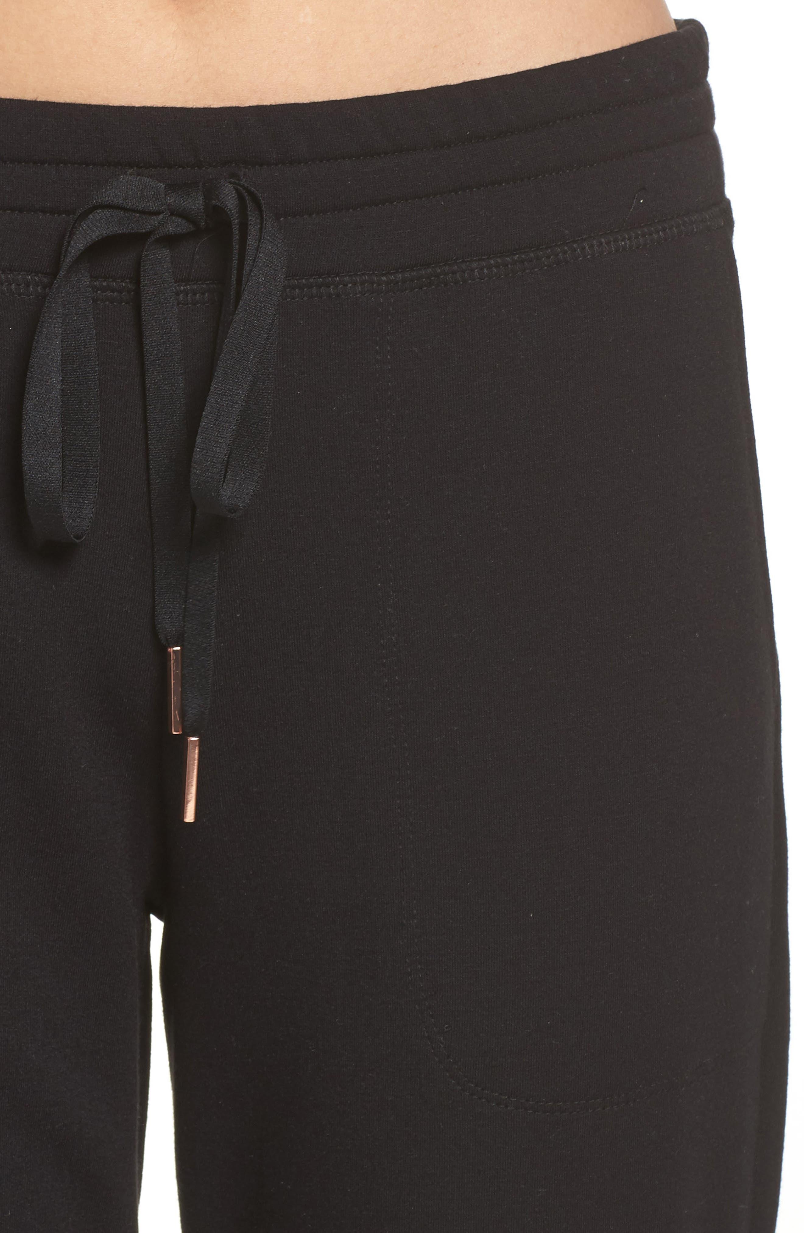 Living Easy Sweatpants,                             Alternate thumbnail 4, color,                             BLACK