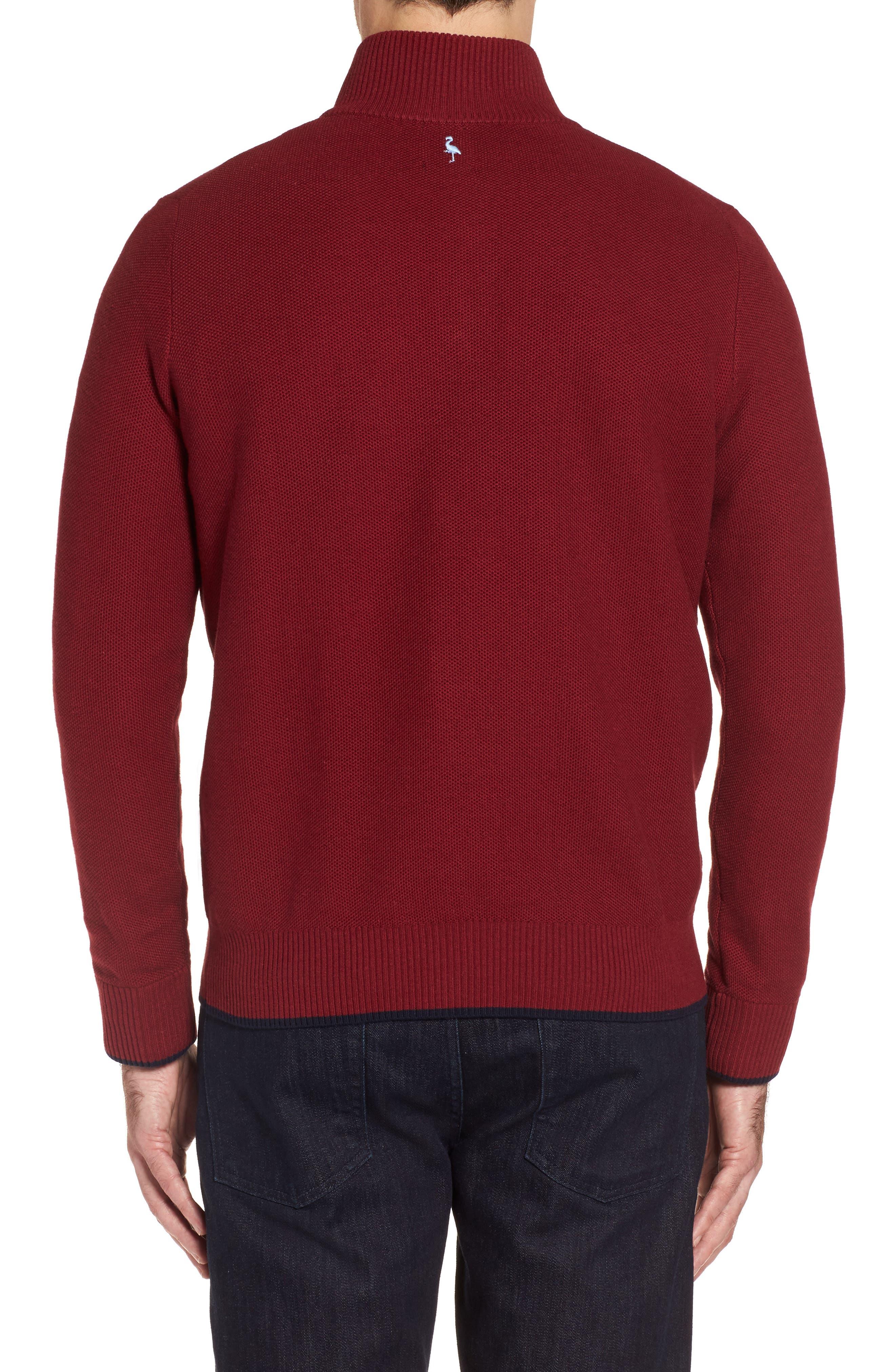 Prien Tipped Quarter Zip Sweater,                             Alternate thumbnail 2, color,                             600