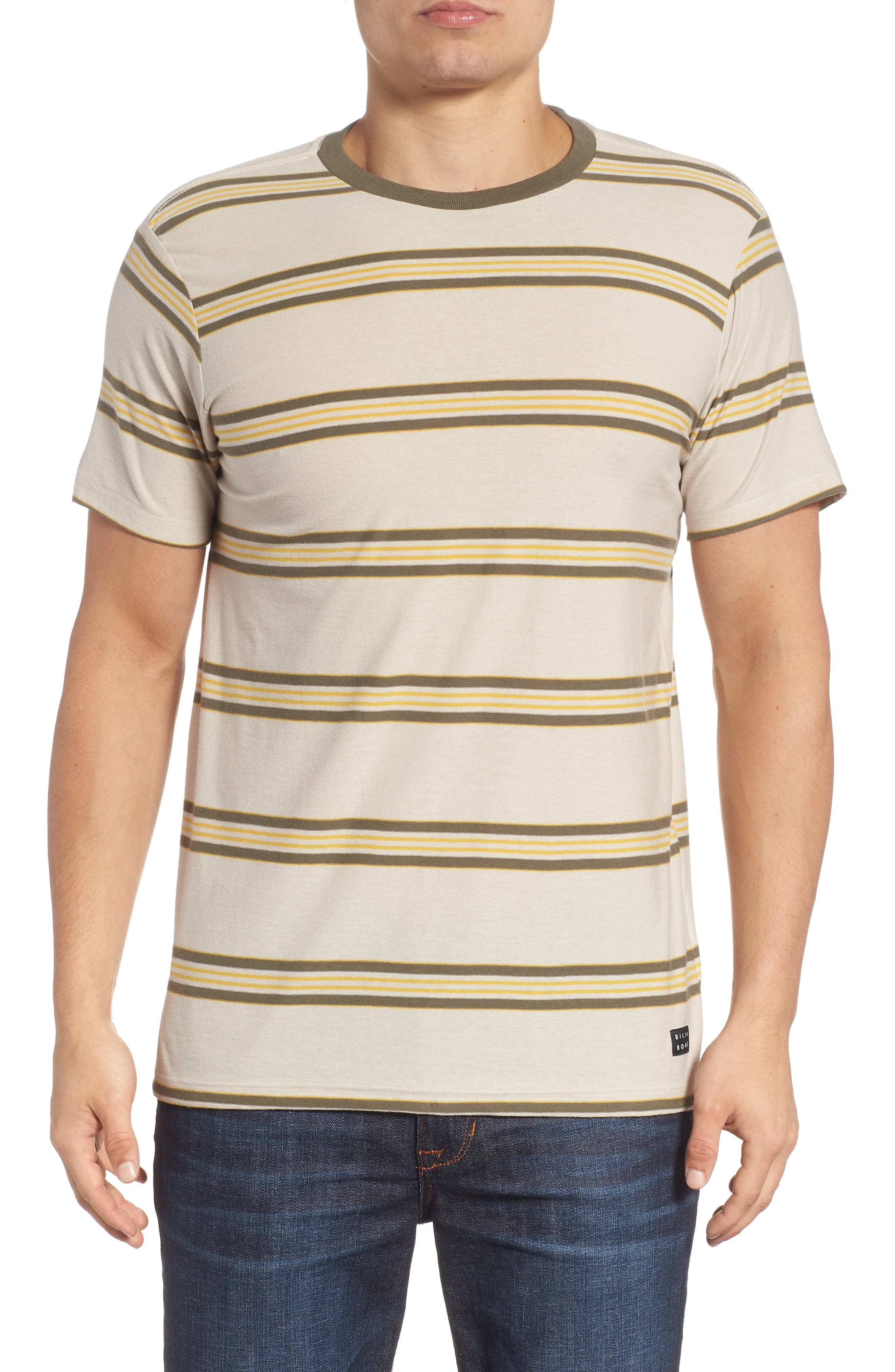 Die Cut Stripe T-Shirt,                         Main,                         color, STONE