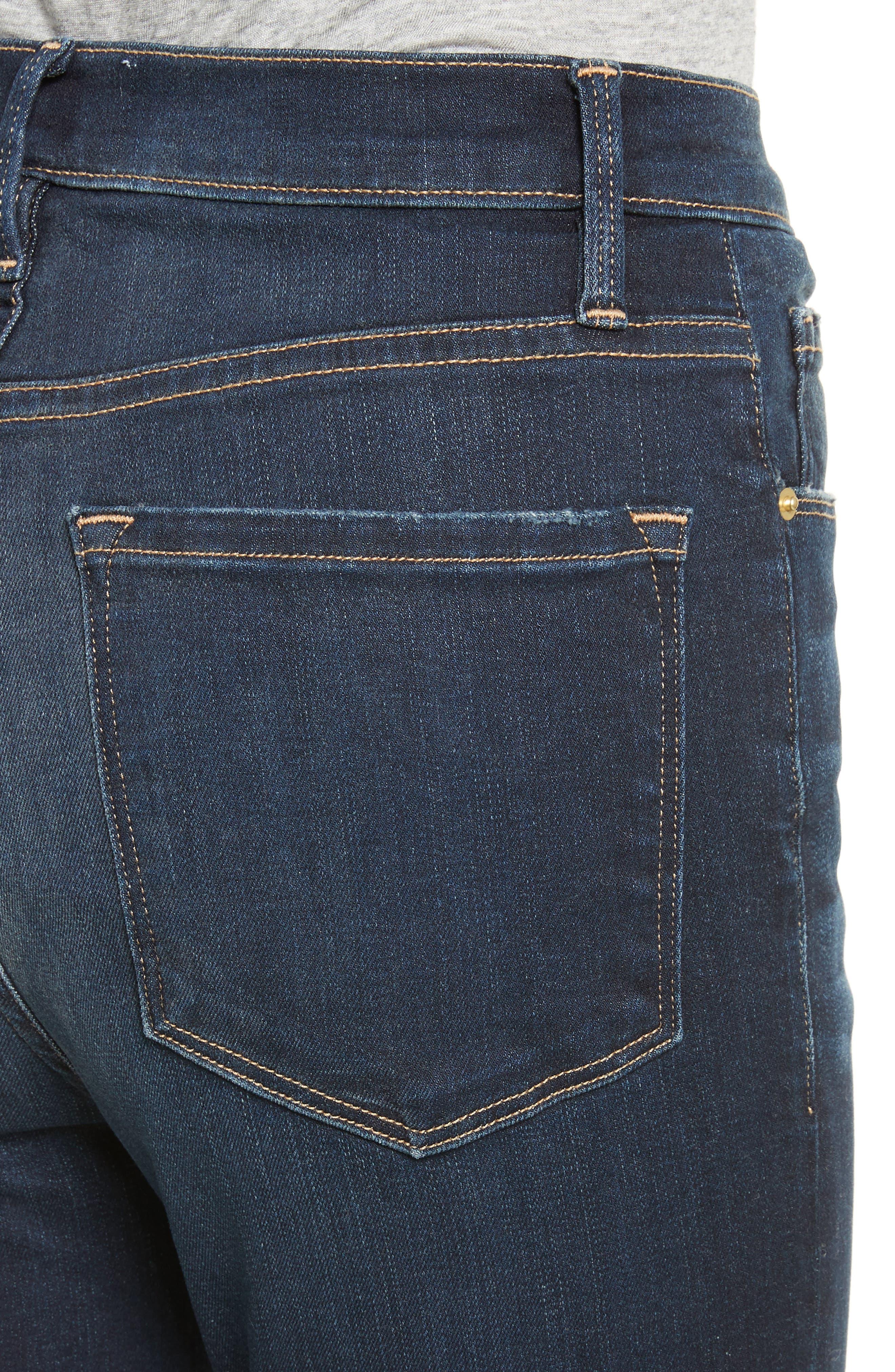 Ali High Waist Ankle Skinny Jeans,                             Alternate thumbnail 4, color,