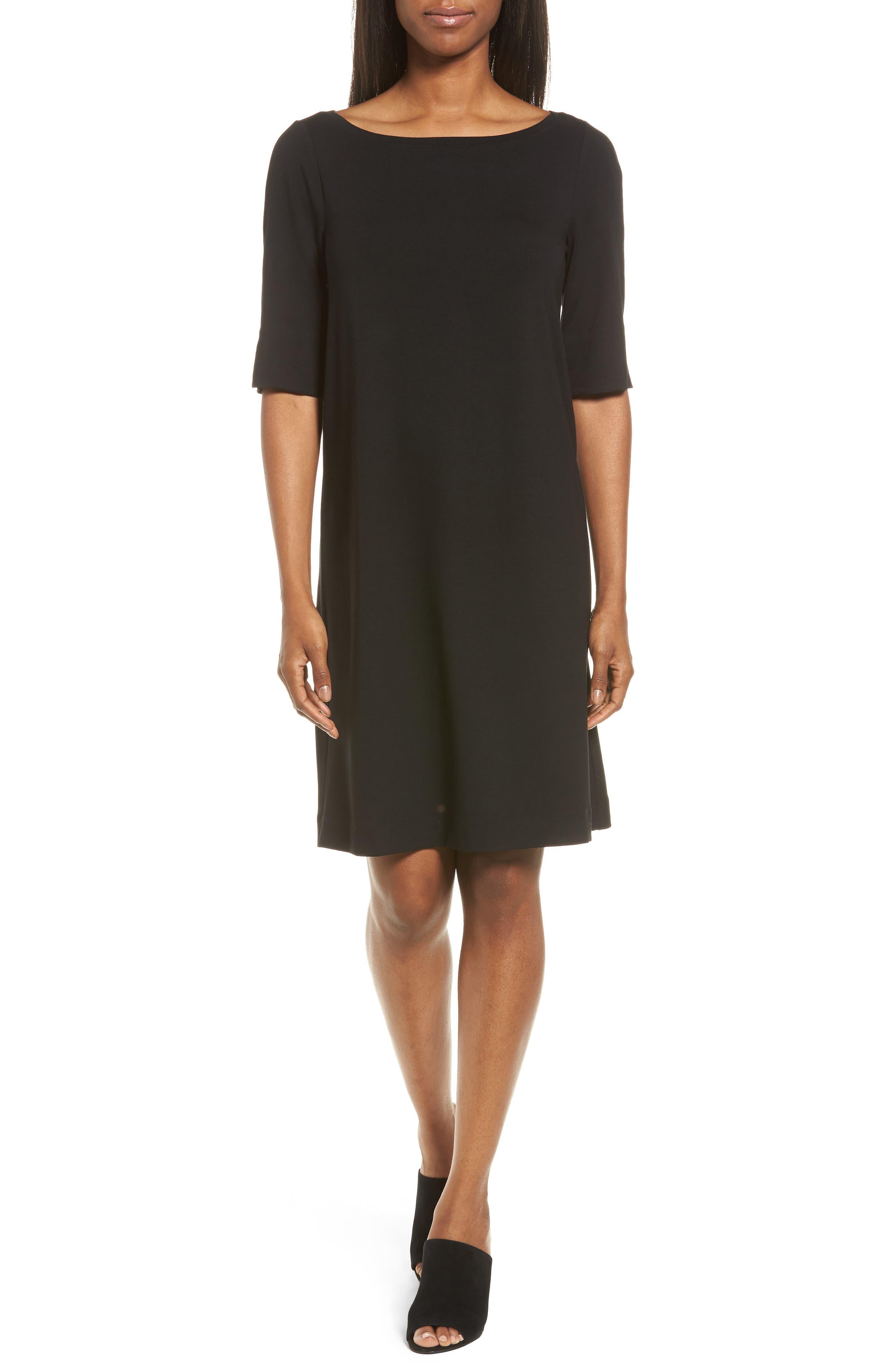 Jersey Shift Dress,                             Main thumbnail 1, color,                             001