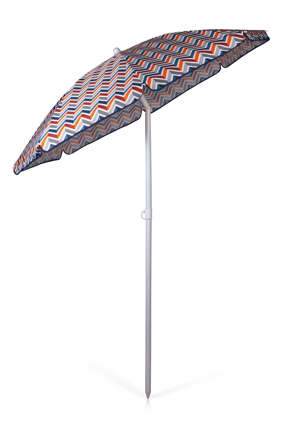 Beach & Picnic Umbrella,                             Alternate thumbnail 3, color,                             BLUE