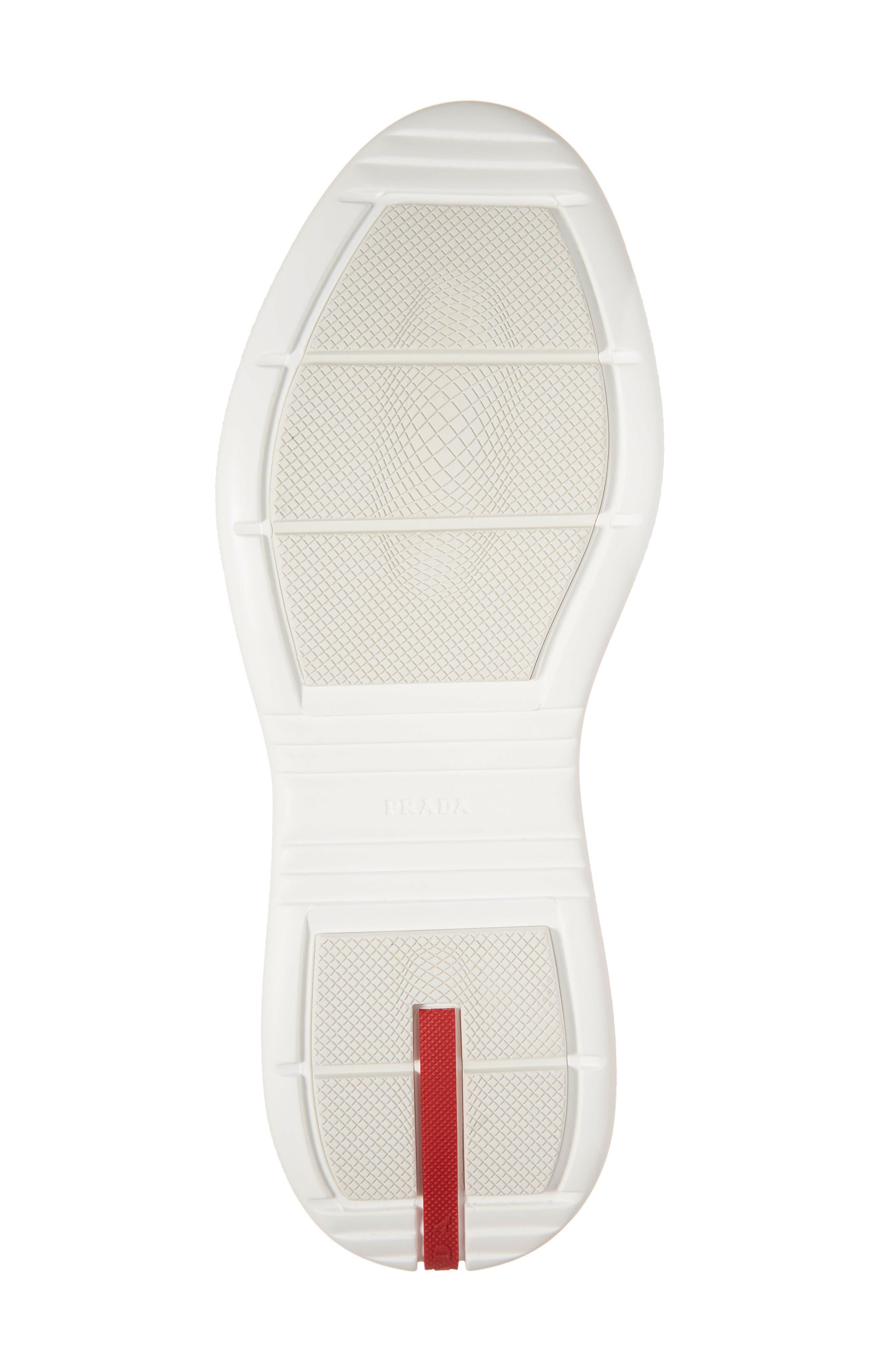 PRADA,                             Laceless Logo Sneaker,                             Alternate thumbnail 6, color,                             NERO