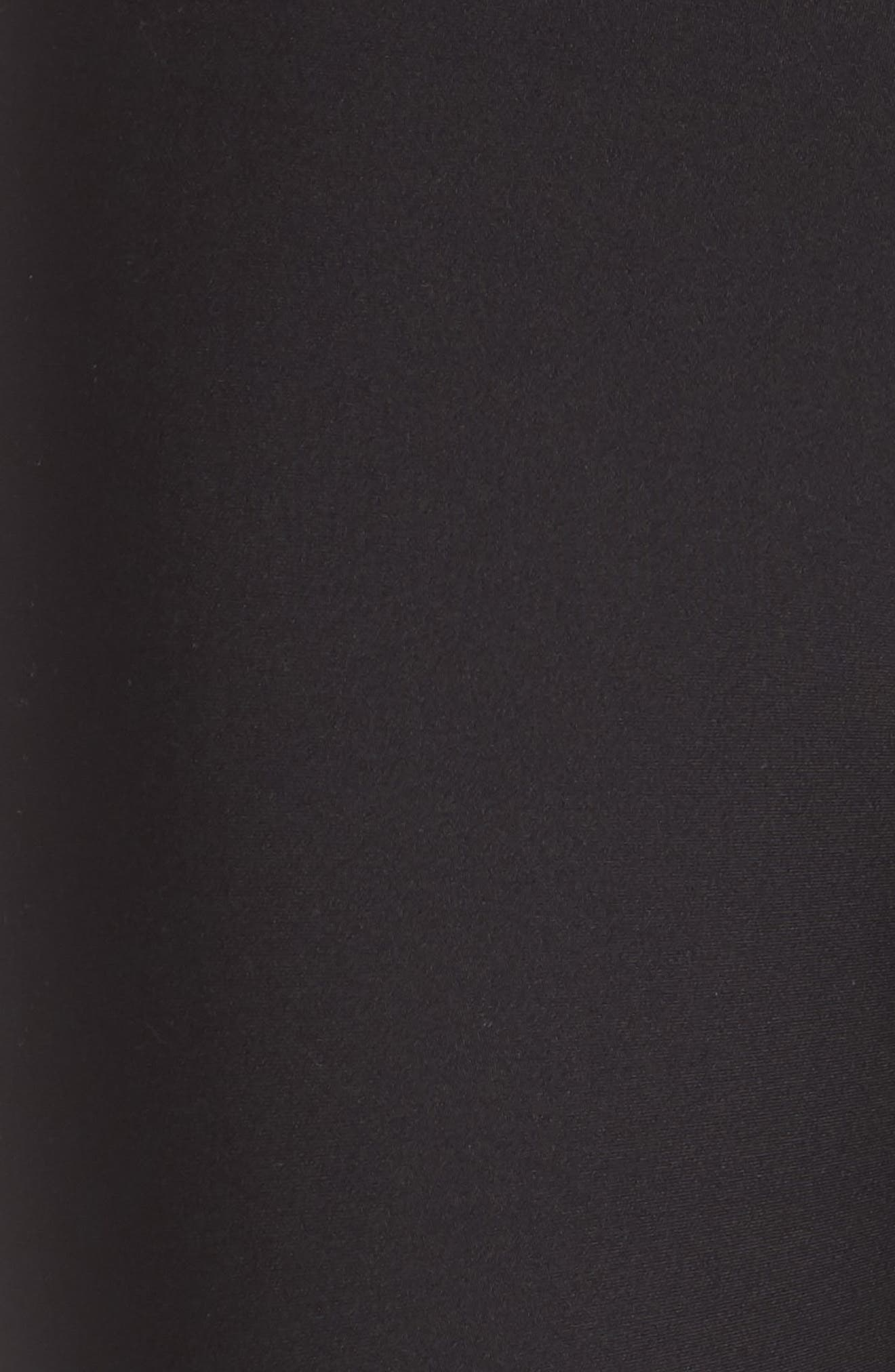 Airbrush Tech Lift High Waist Capris,                             Alternate thumbnail 6, color,                             BLACK