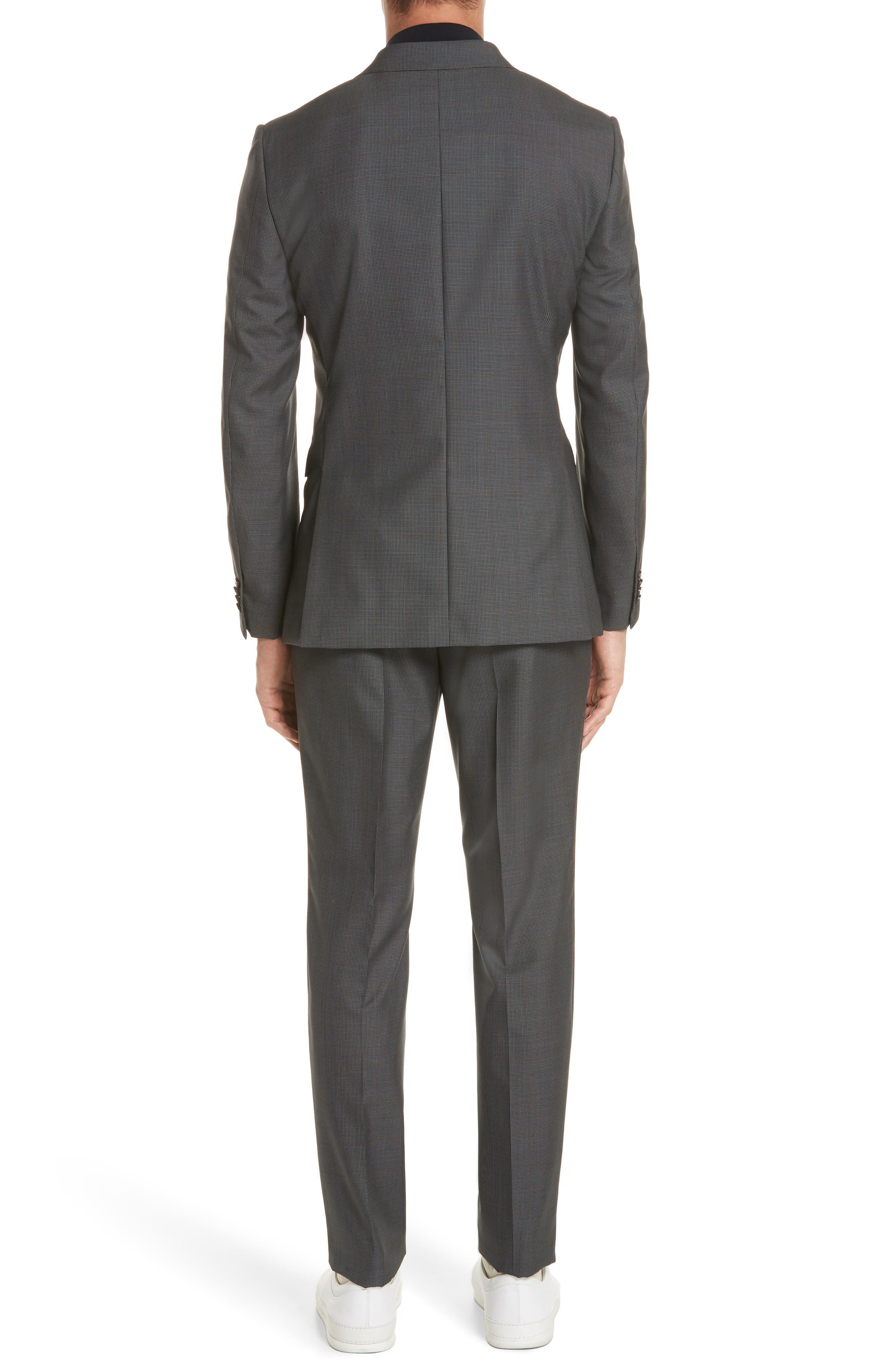Trim Fit Houndstooth Wool & Silk Suit,                             Alternate thumbnail 2, color,                             026