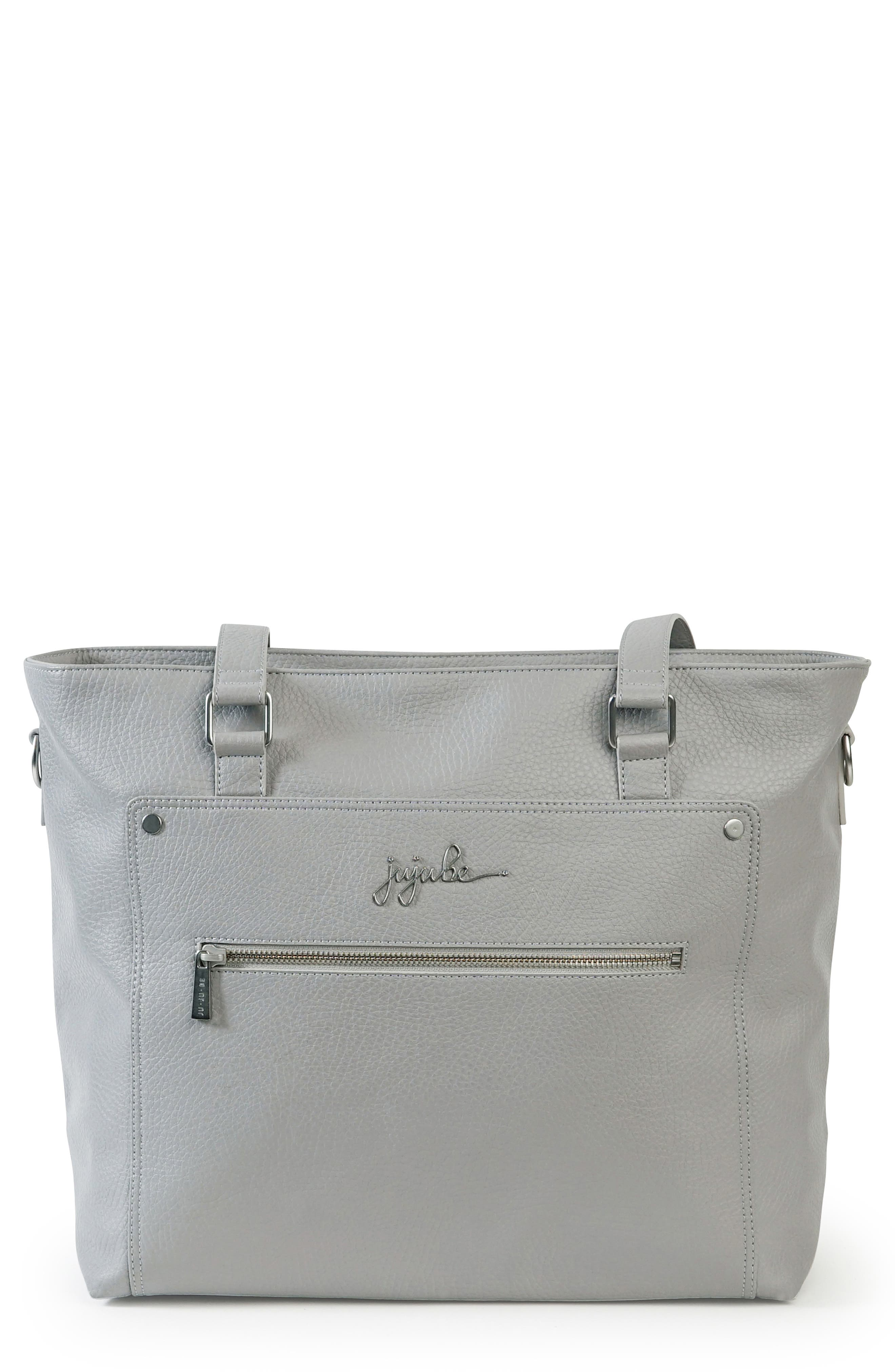 Ever Collection Everyday Faux Leather Diaper Tote,                             Main thumbnail 1, color,                             STONE