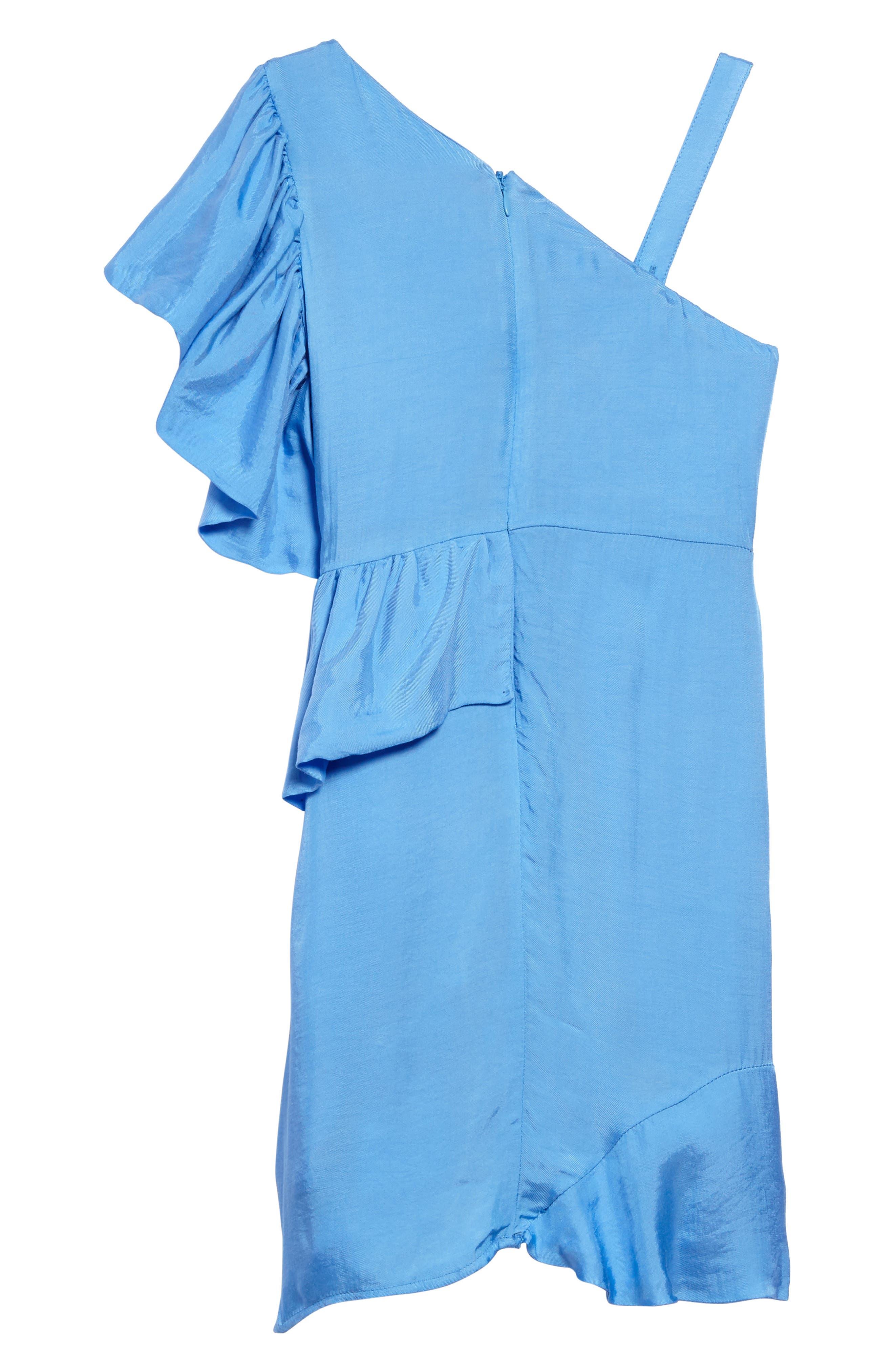 Lucia Asymmetrical Ruffle Dress,                             Alternate thumbnail 2, color,                             401
