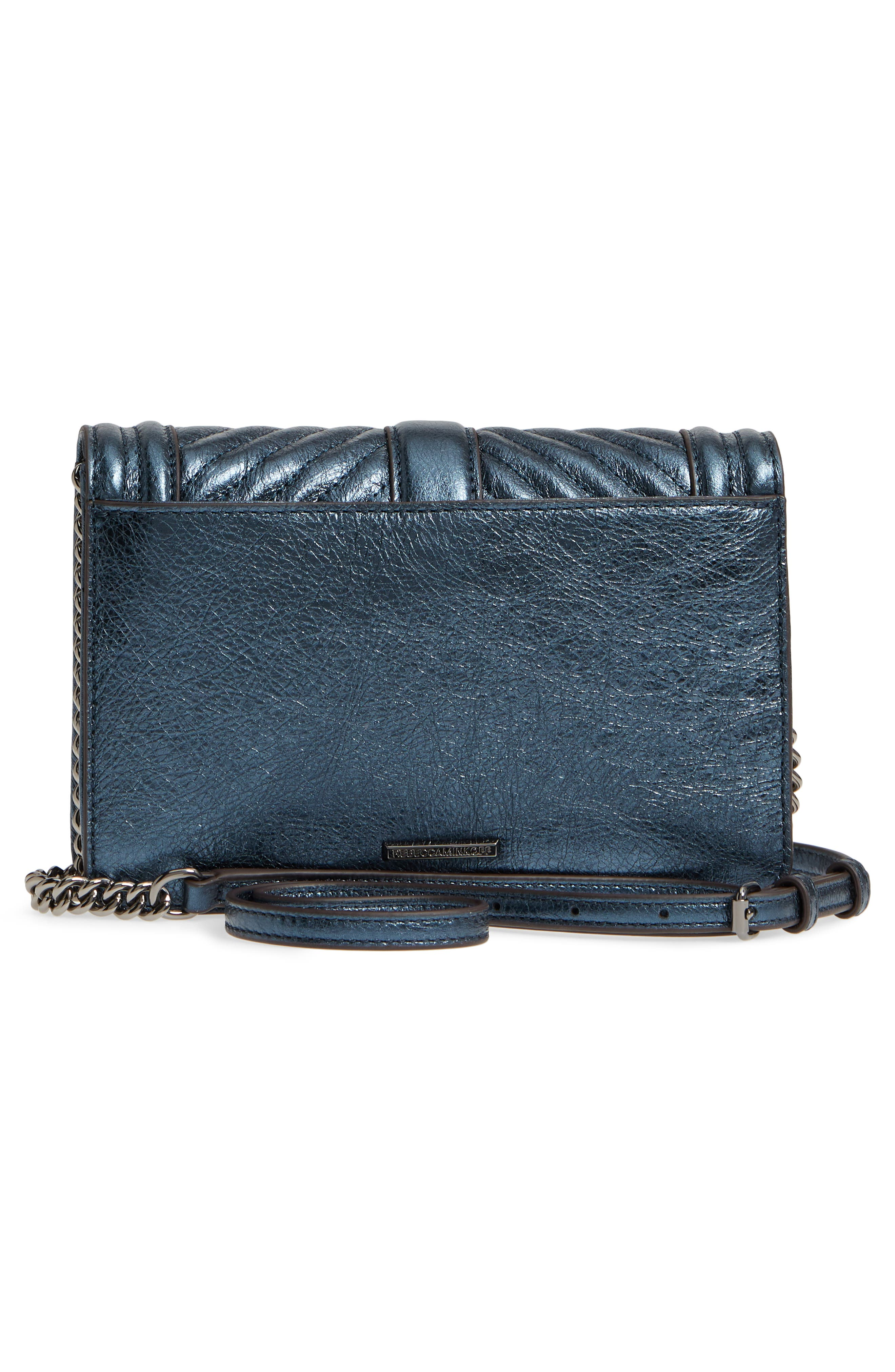 Small Love Metallic Leather Crossbody Bag,                             Alternate thumbnail 8, color,