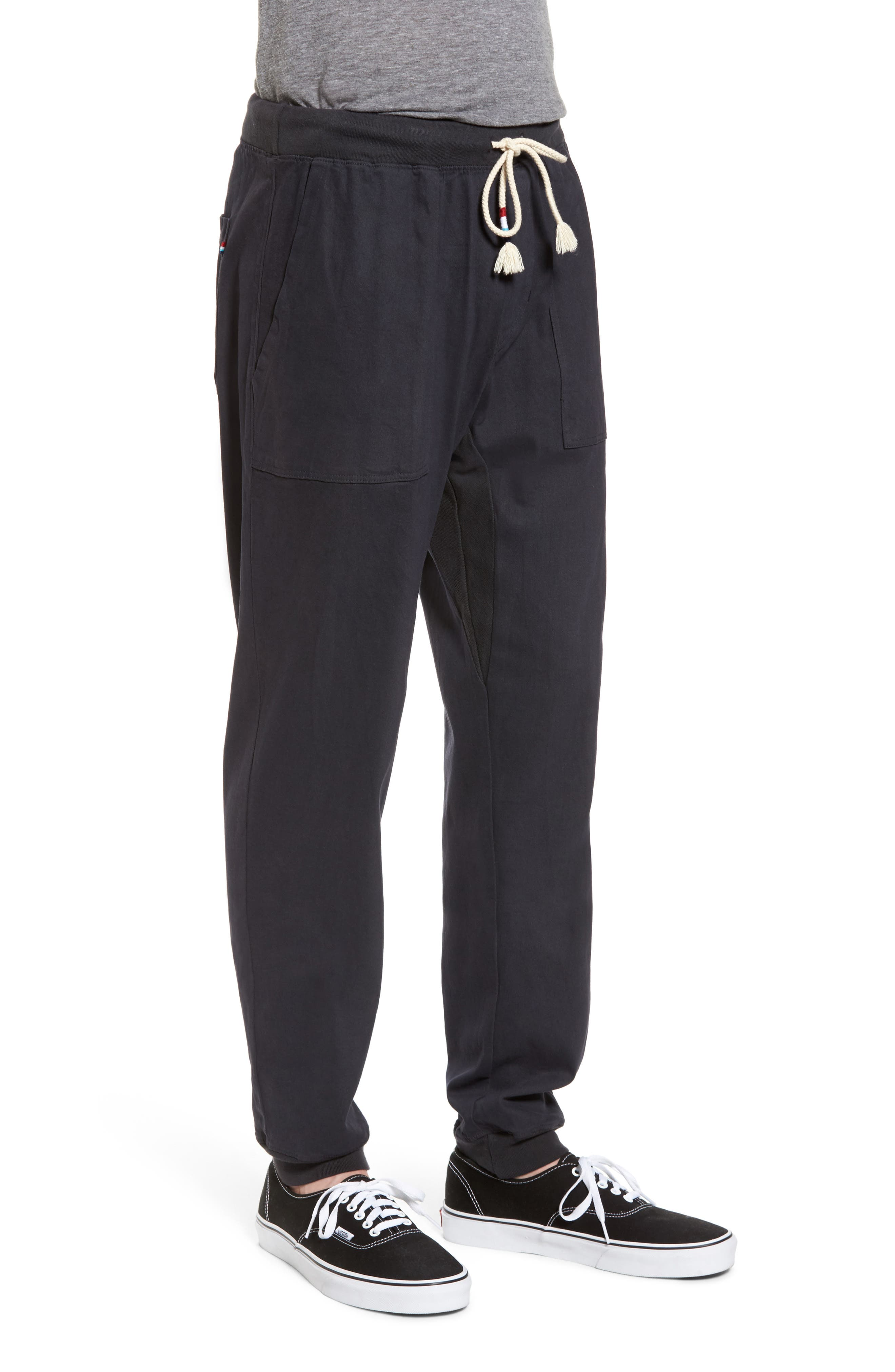 Essential Twill Jogger Pants,                             Alternate thumbnail 3, color,                             002