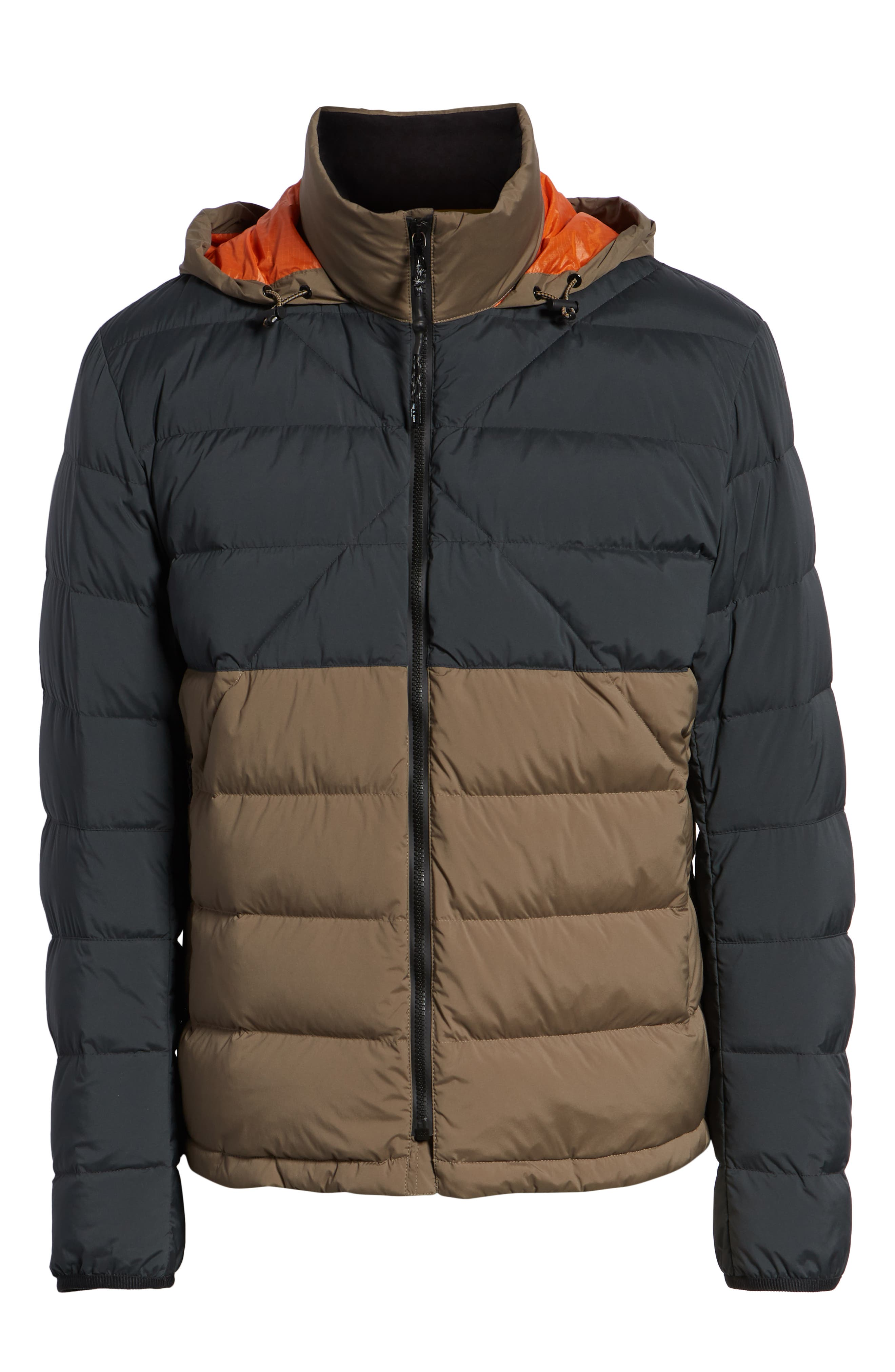 Regular Fit Wes Packable Down Jacket,                             Alternate thumbnail 5, color,                             BLACK/ ARMY