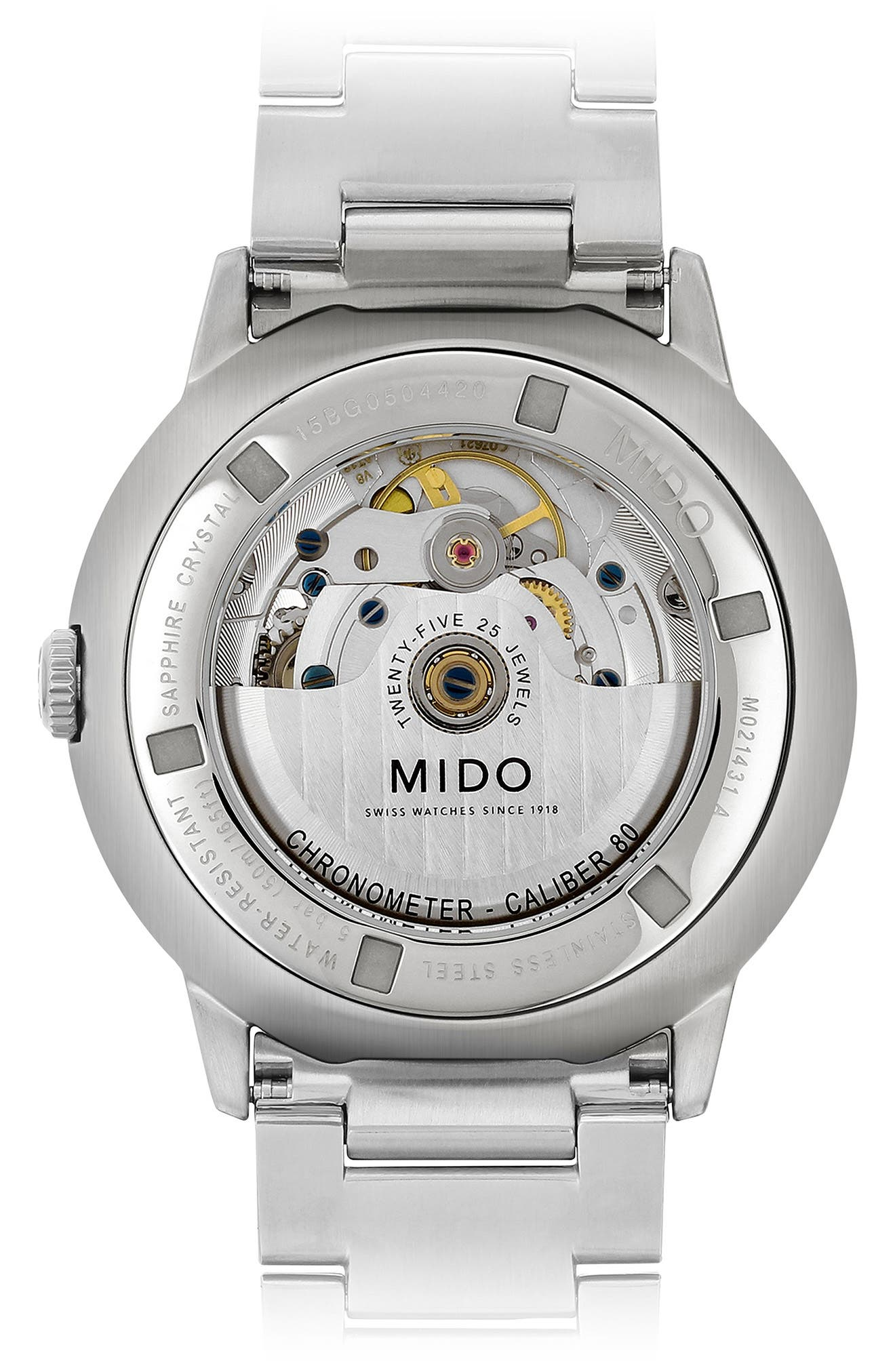 Commander Chronometer Bracelet Watch, 40mm,                             Alternate thumbnail 2, color,                             SILVER/ GREY/ SILVER