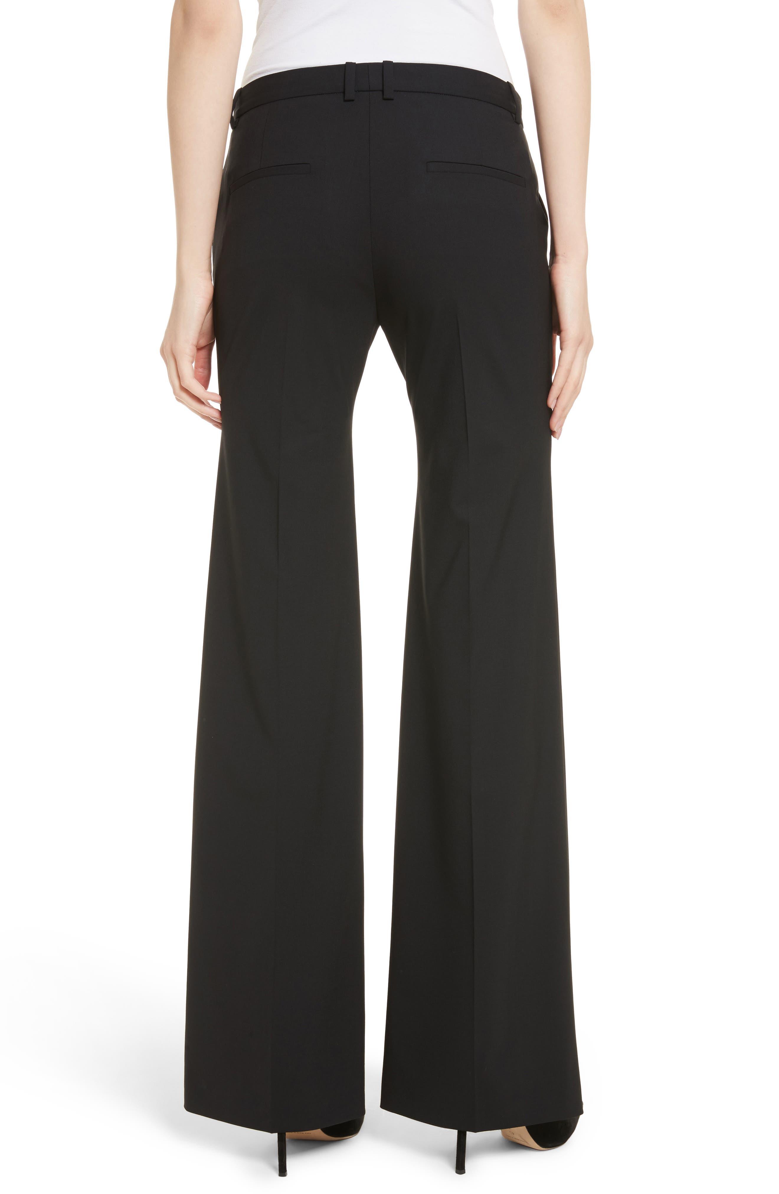 Demetria 2 Flare Leg Good Wool Suit Pants,                             Alternate thumbnail 2, color,                             BLACK