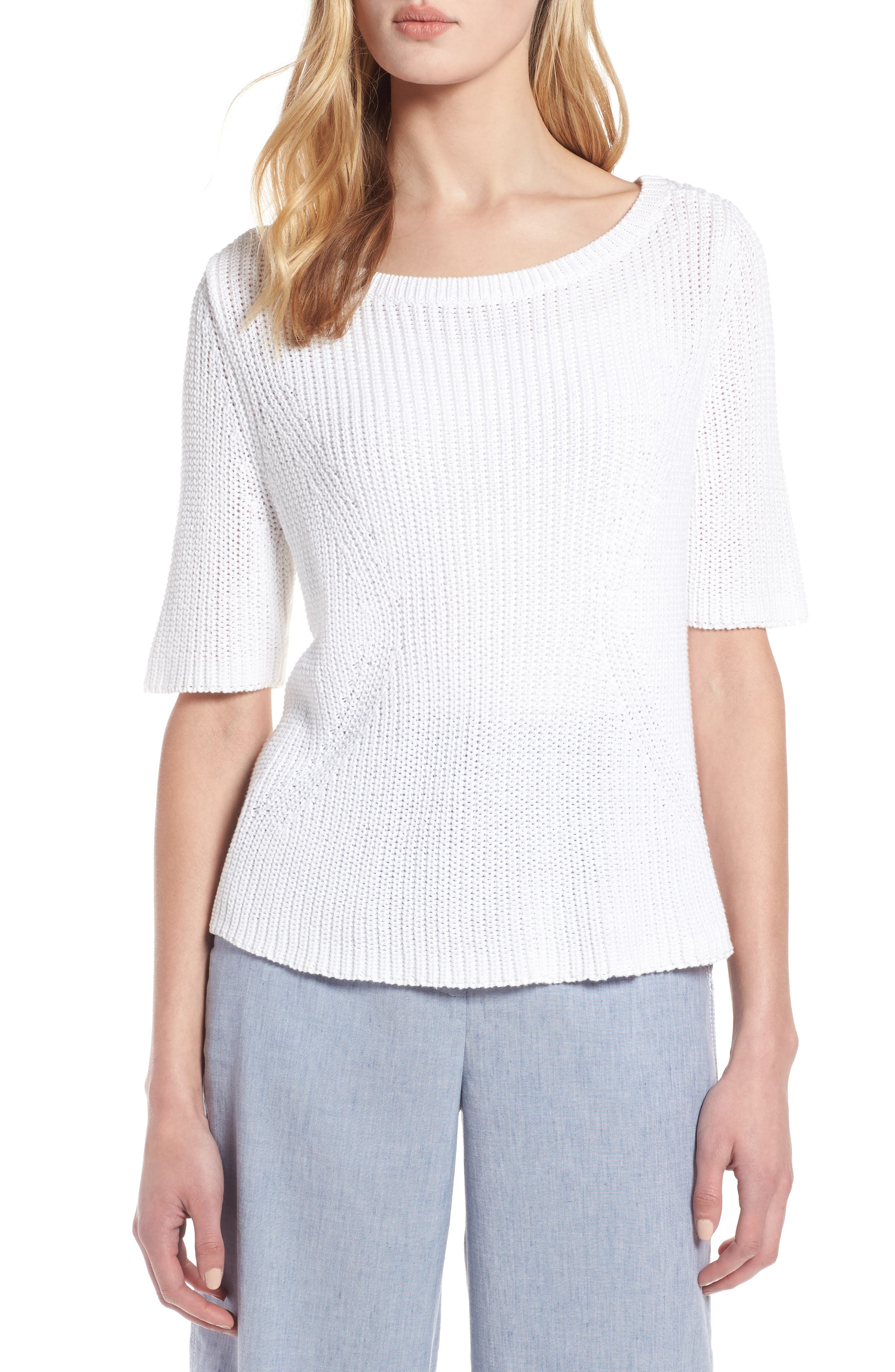 Shaker Stitch Cotton Sweater,                             Main thumbnail 2, color,