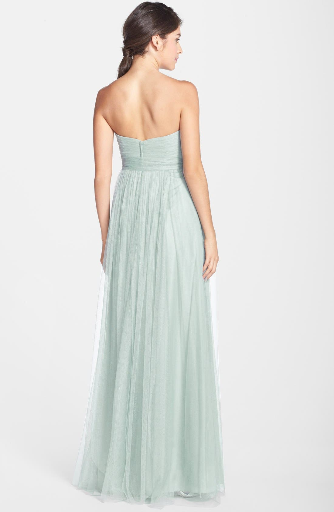 Annabelle Convertible Tulle Column Dress,                             Alternate thumbnail 111, color,