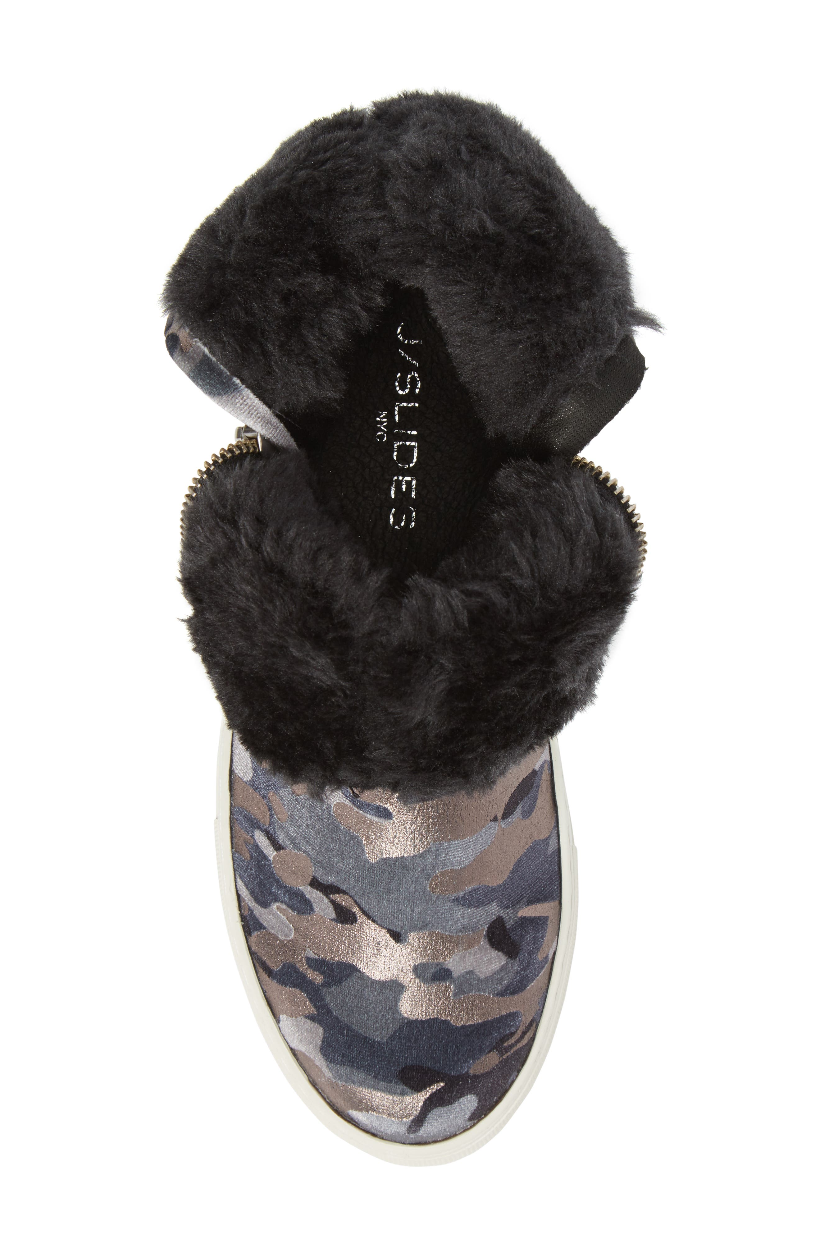 Allie Faux Fur Lined Platform Boot,                             Alternate thumbnail 6, color,                             020