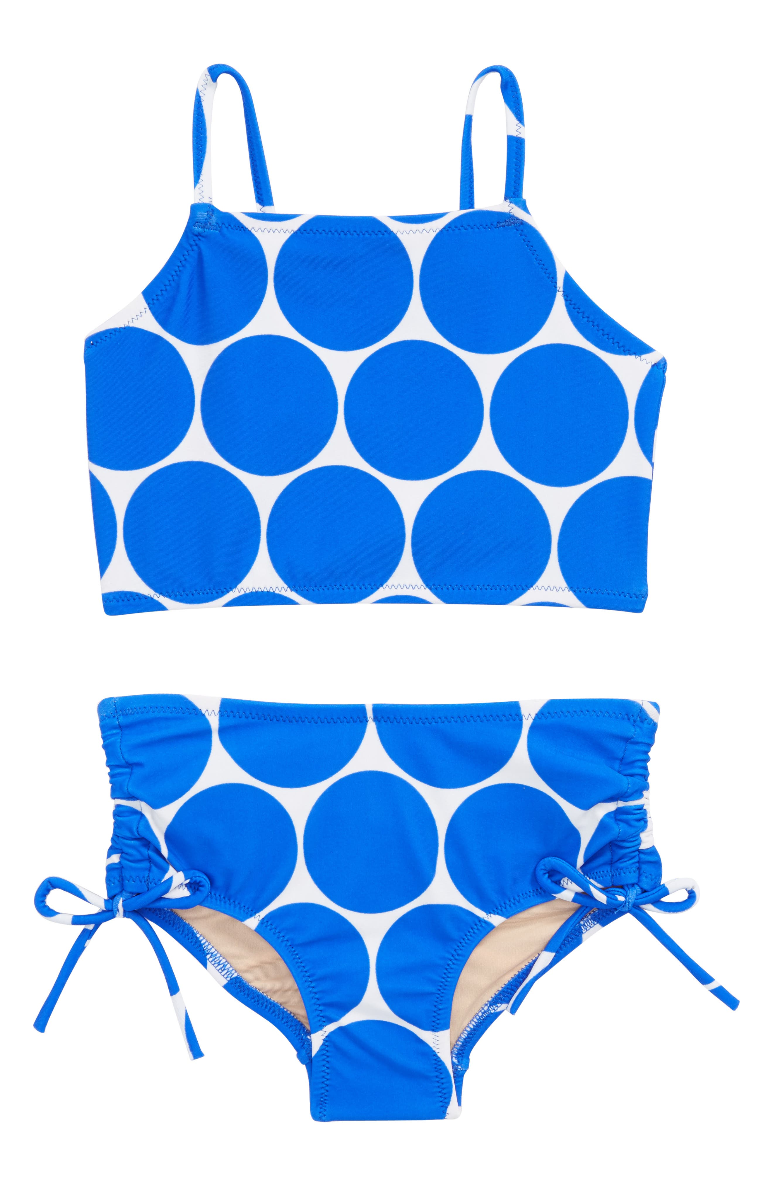 CREWCUTS BY J.CREW,                             Sunny Dot Two-Piece Tankini Swimsuit,                             Main thumbnail 1, color,                             400