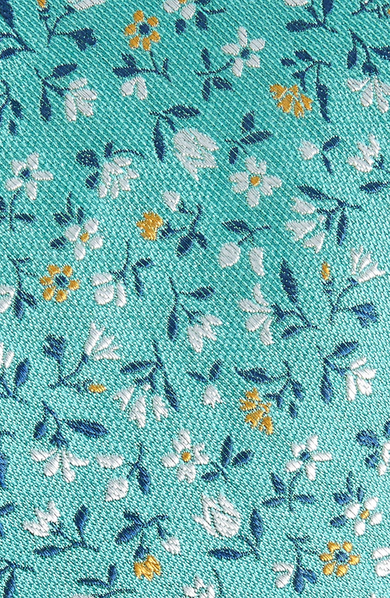 Flower Fields Silk & Cotton Tie,                             Alternate thumbnail 2, color,                             333