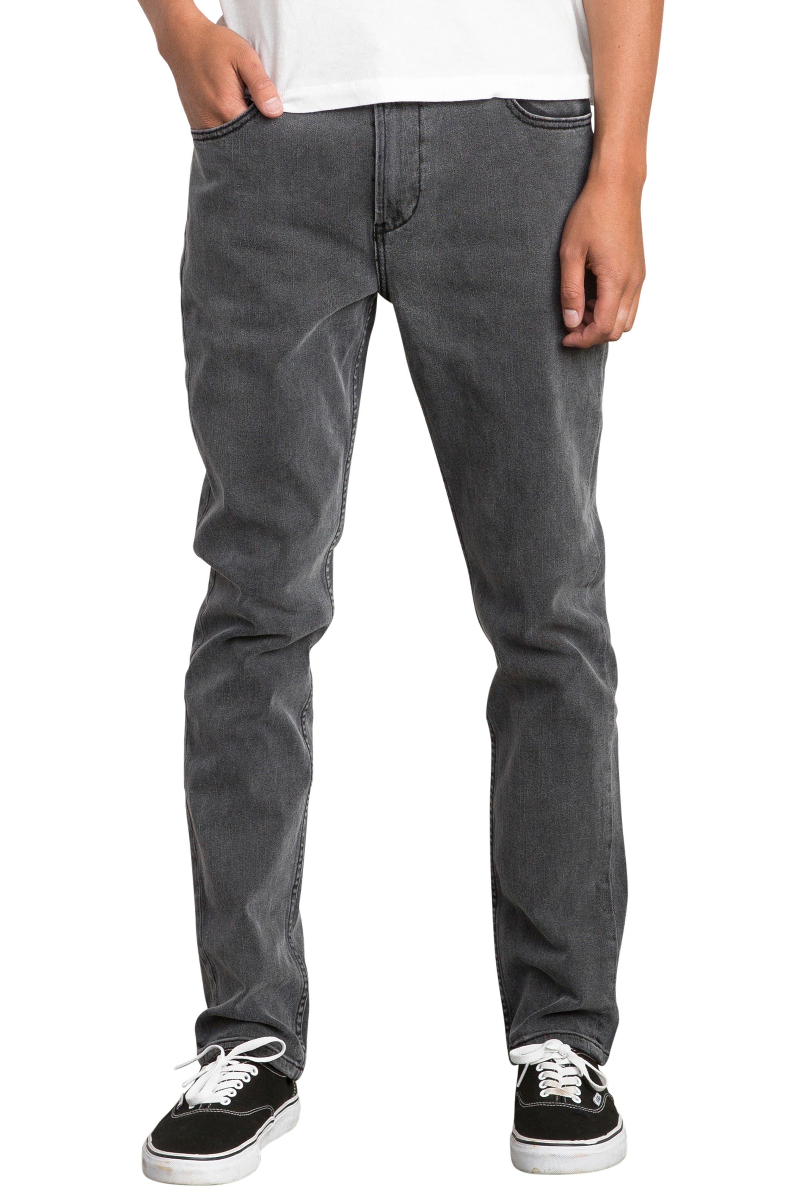 Daggers Slim Straight Leg Jeans,                         Main,                         color, VINTAGE CHARCOAL
