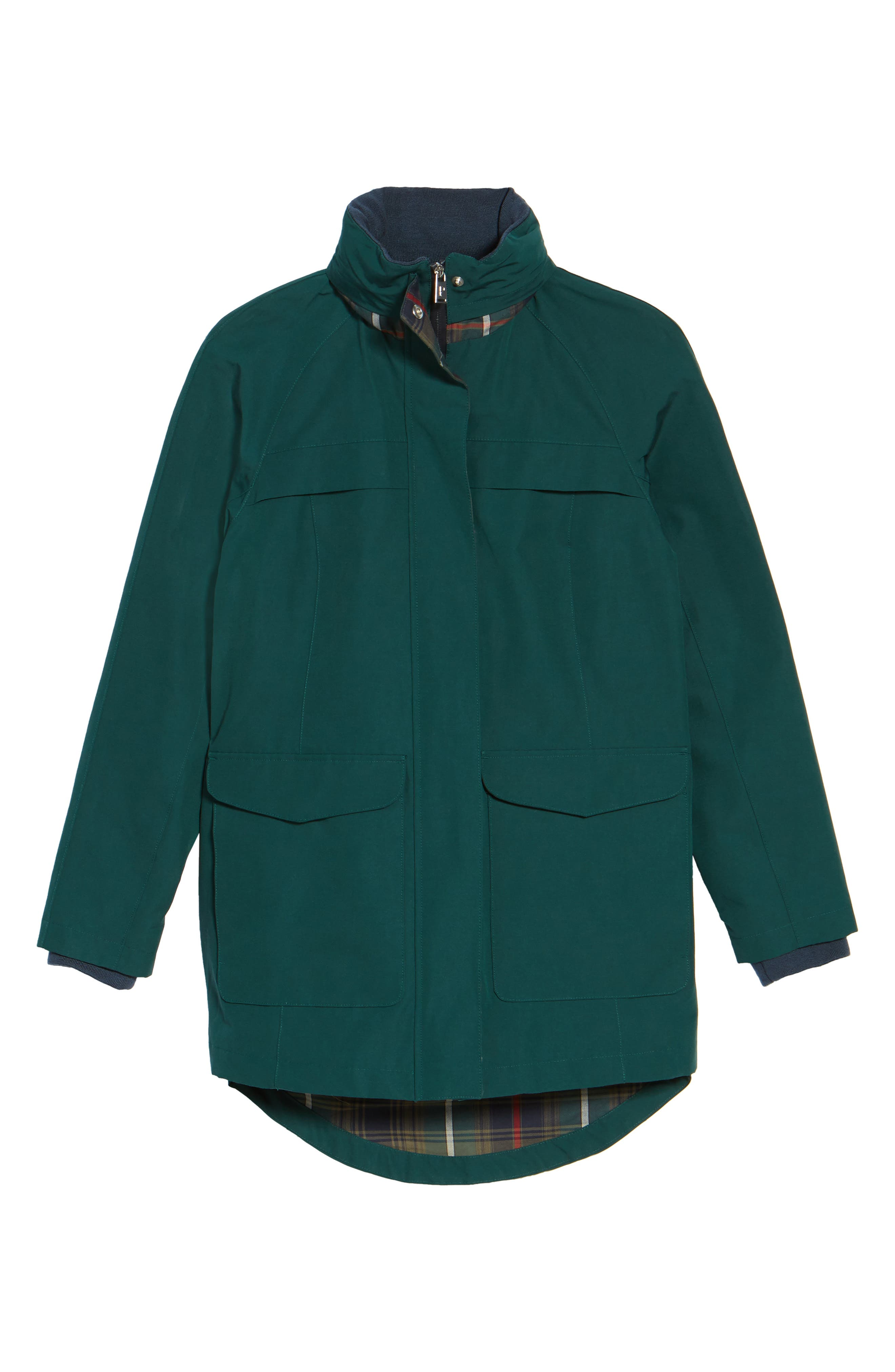 Hooded Raincoat,                             Alternate thumbnail 6, color,                             PONDEROSA