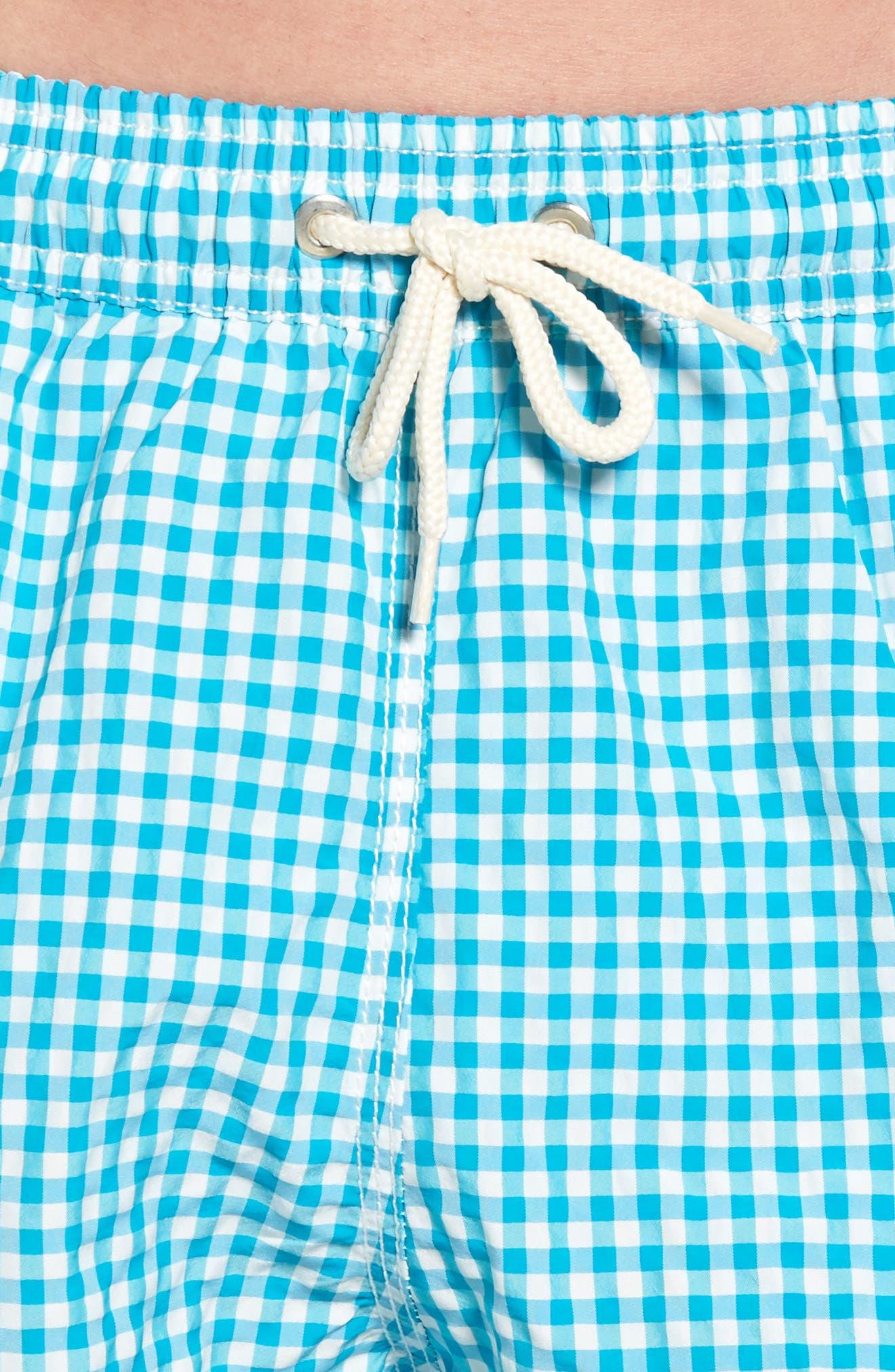 Gingham Check Swim Trunks,                             Alternate thumbnail 4, color,                             440