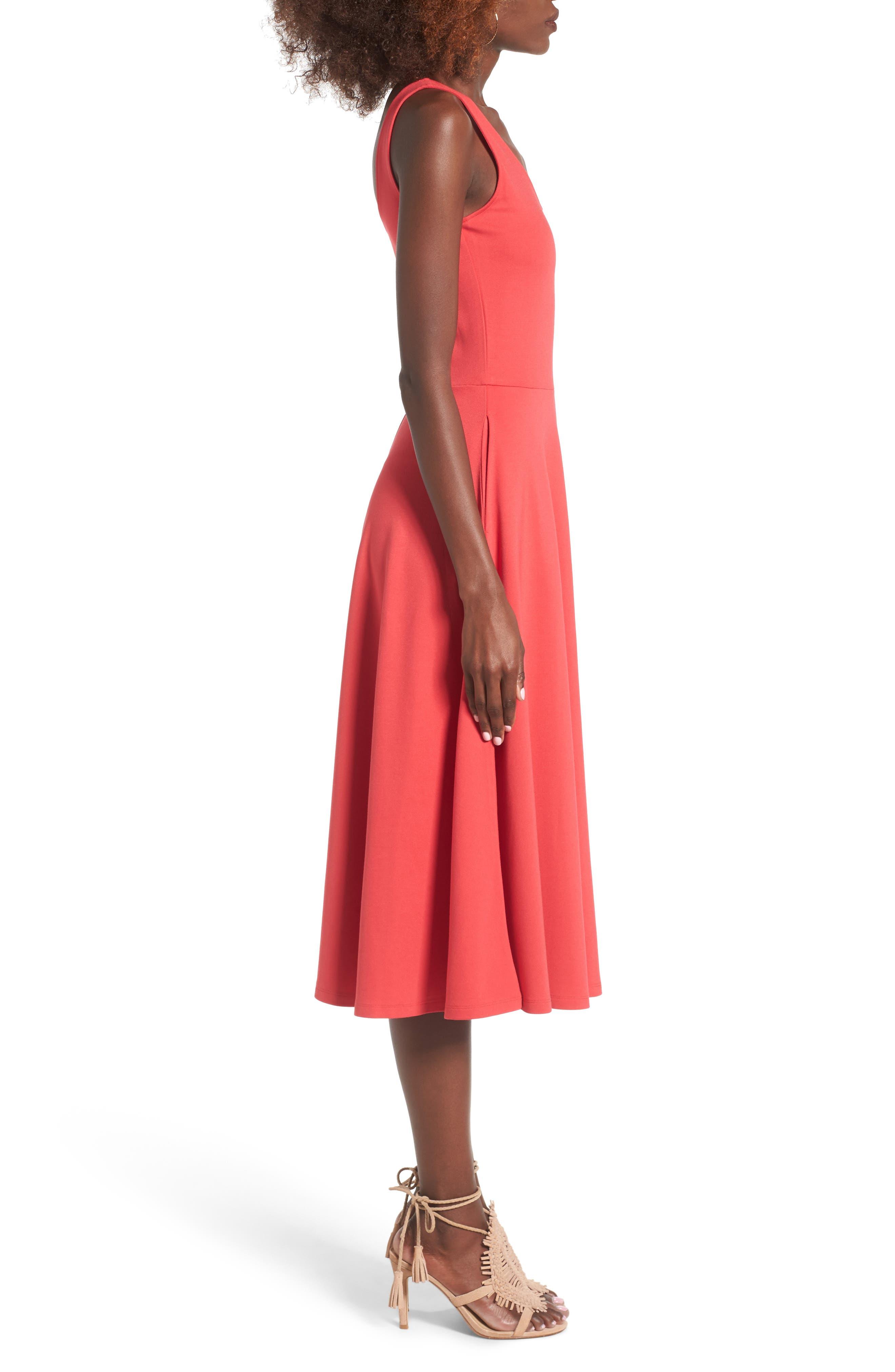 Stretch Knit Midi Dress,                             Alternate thumbnail 31, color,