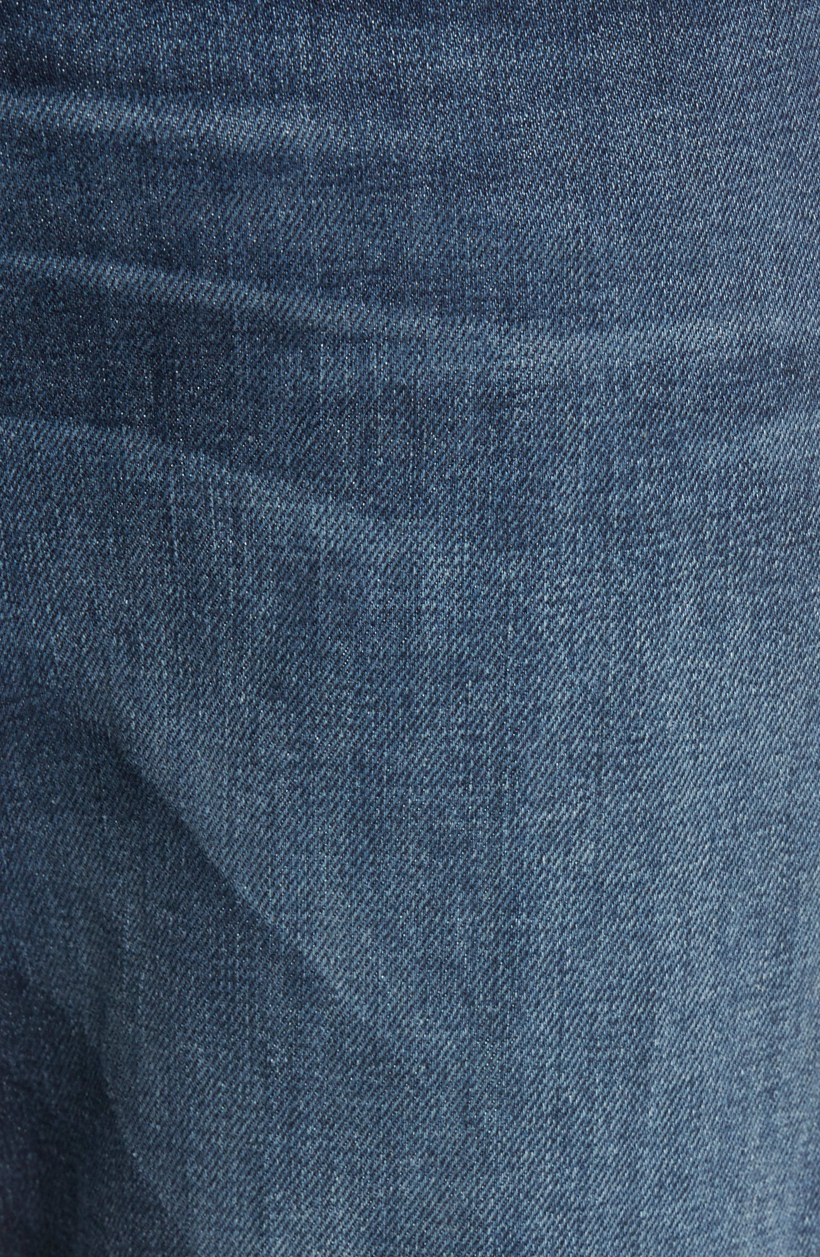 Geno Straight Leg Jeans,                             Alternate thumbnail 5, color,                             BLUE CASCADE