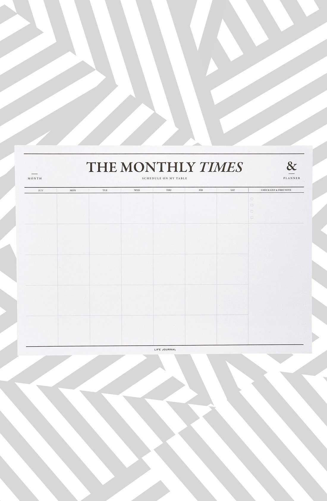 'The Monthly Times' Desk Notepad & Planner, Main, color, 102