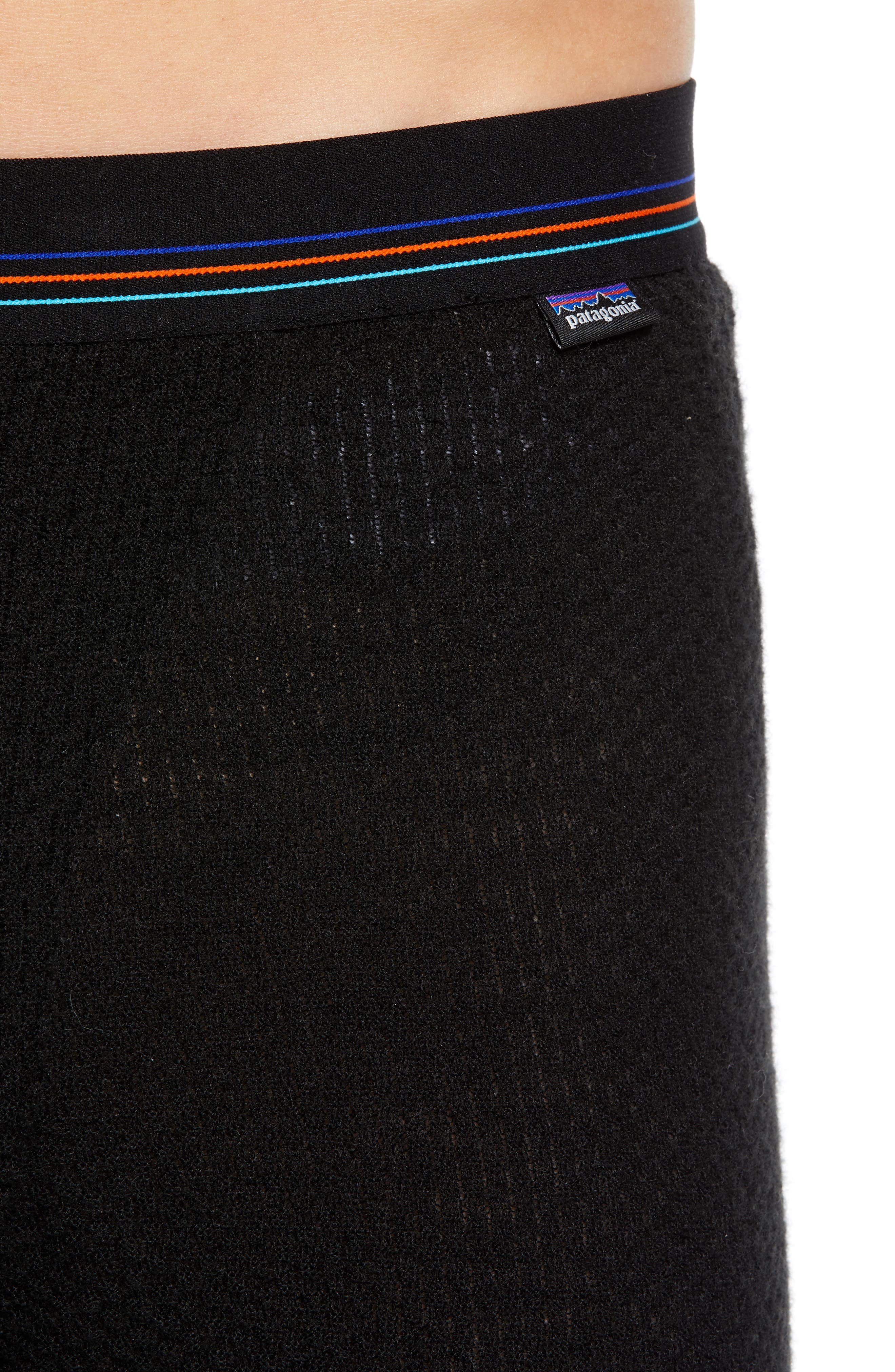Capilene<sup>®</sup> Thermal Weight Base Layer Pants,                             Alternate thumbnail 4, color,                             BLACK
