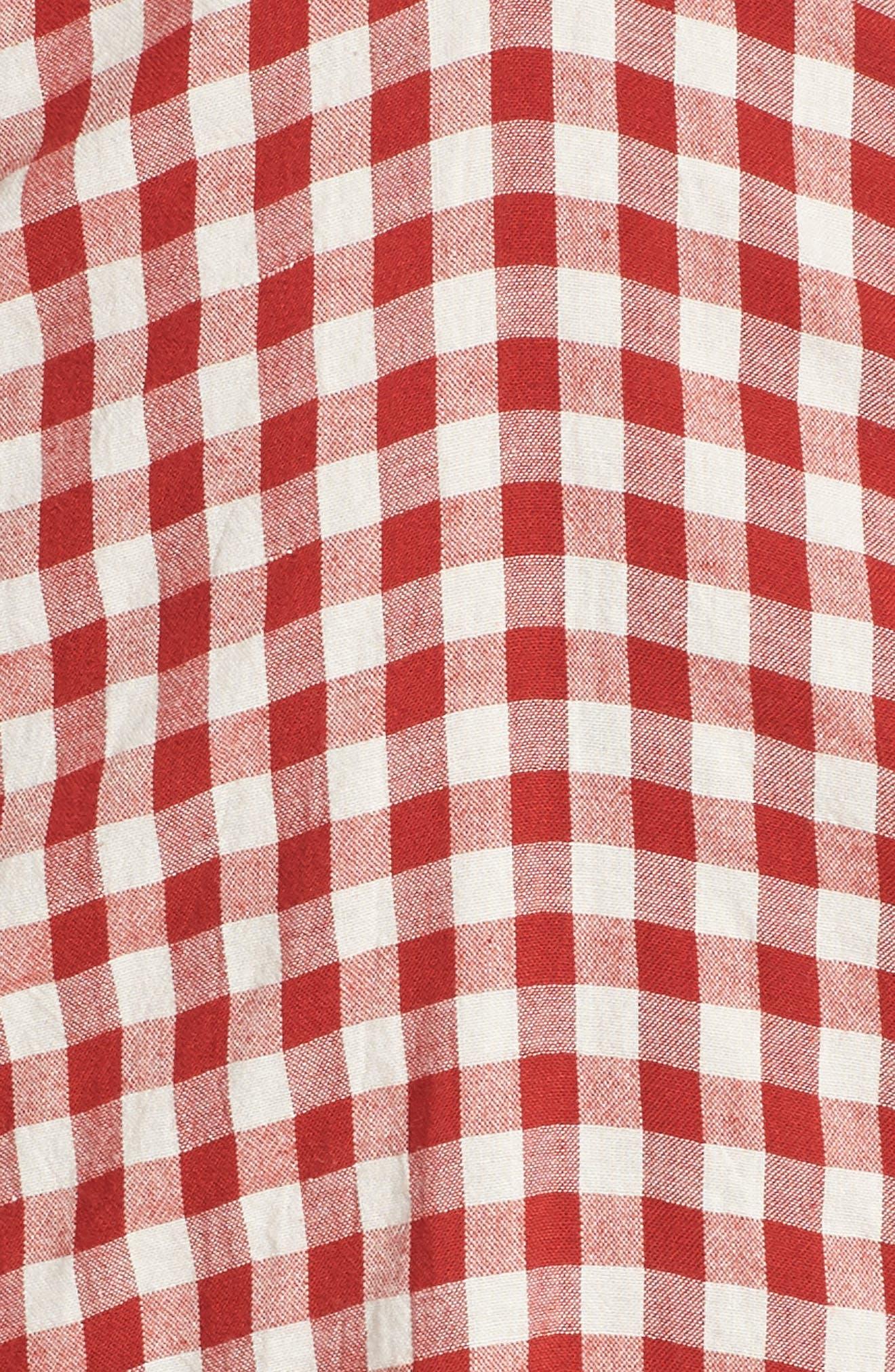 Gingham Bandeau Dress,                             Alternate thumbnail 6, color,                             600