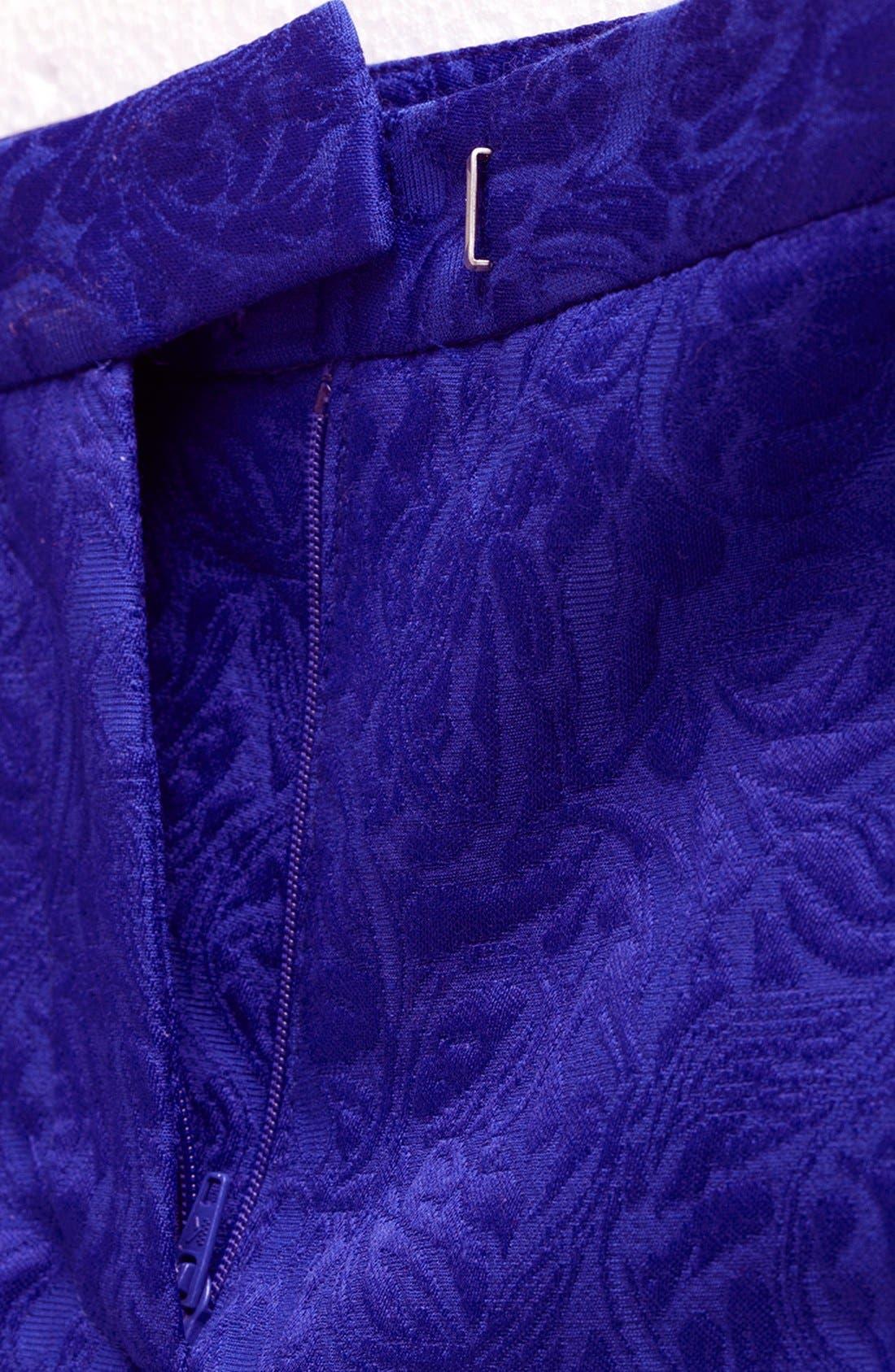 Jacquard Crop Cigarette Pants,                             Alternate thumbnail 3, color,                             430