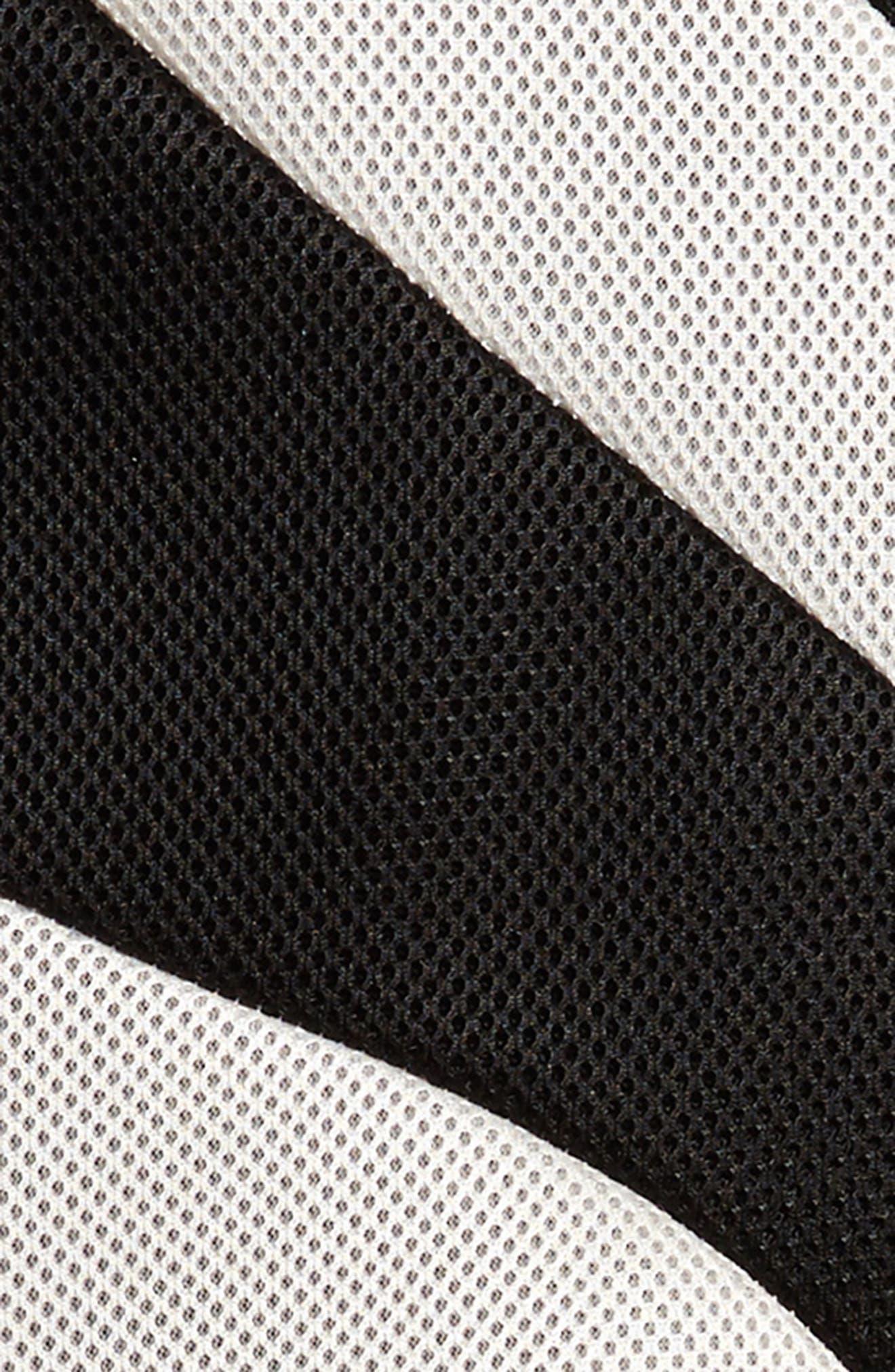 Techno Mesh Skater Dress,                             Alternate thumbnail 3, color,                             001