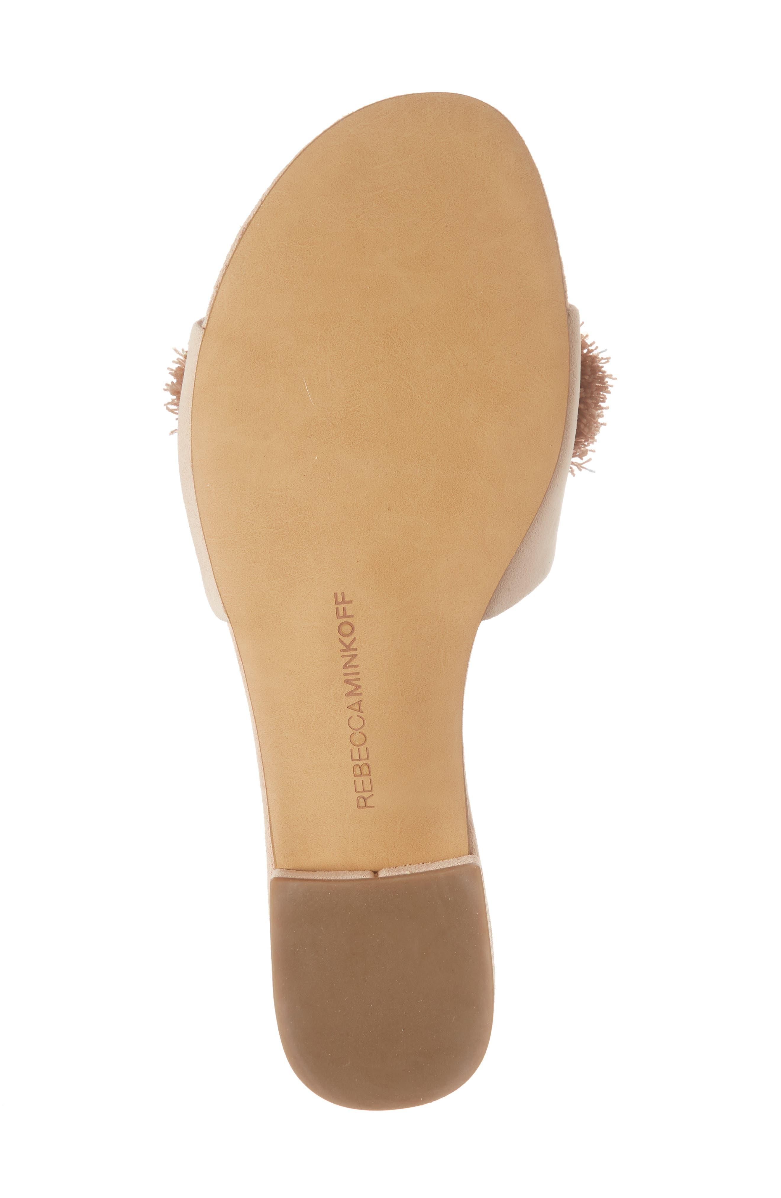 Kayleigh Embellished Slide Sandal,                             Alternate thumbnail 6, color,                             CERAMIC SUEDE