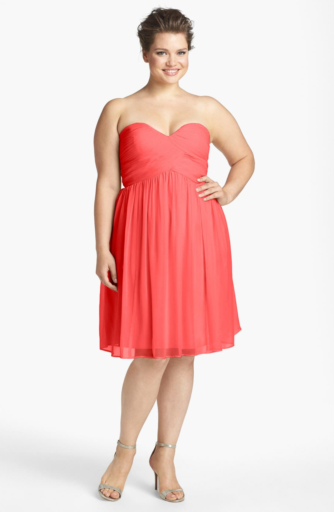 'Morgan' Strapless Silk Chiffon Dress,                             Alternate thumbnail 126, color,