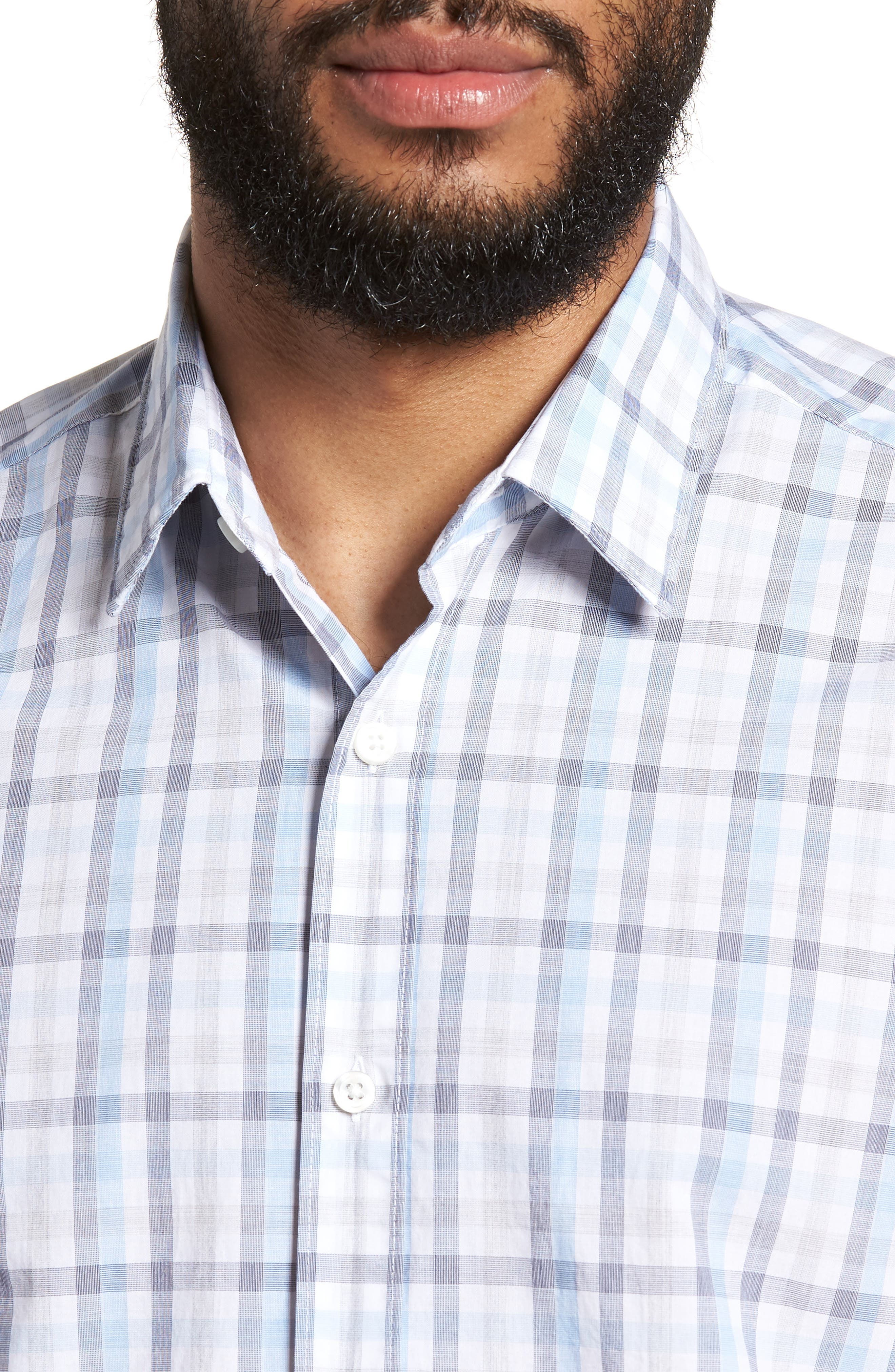 Luka Slim Fit Short Sleeve Sport Shirt,                             Alternate thumbnail 4, color,