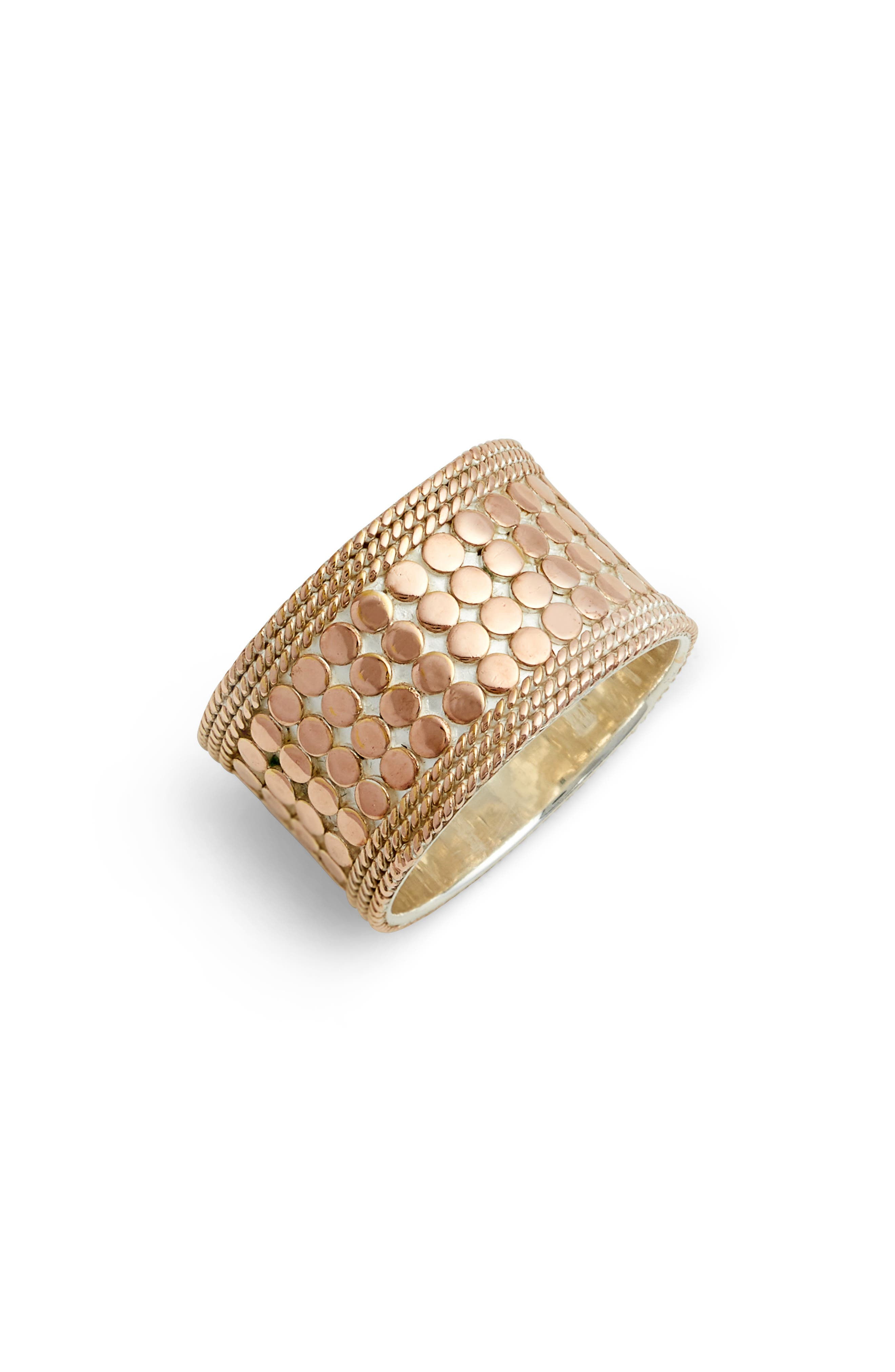 Cigar Band Ring,                             Main thumbnail 1, color,                             ROSE GOLD