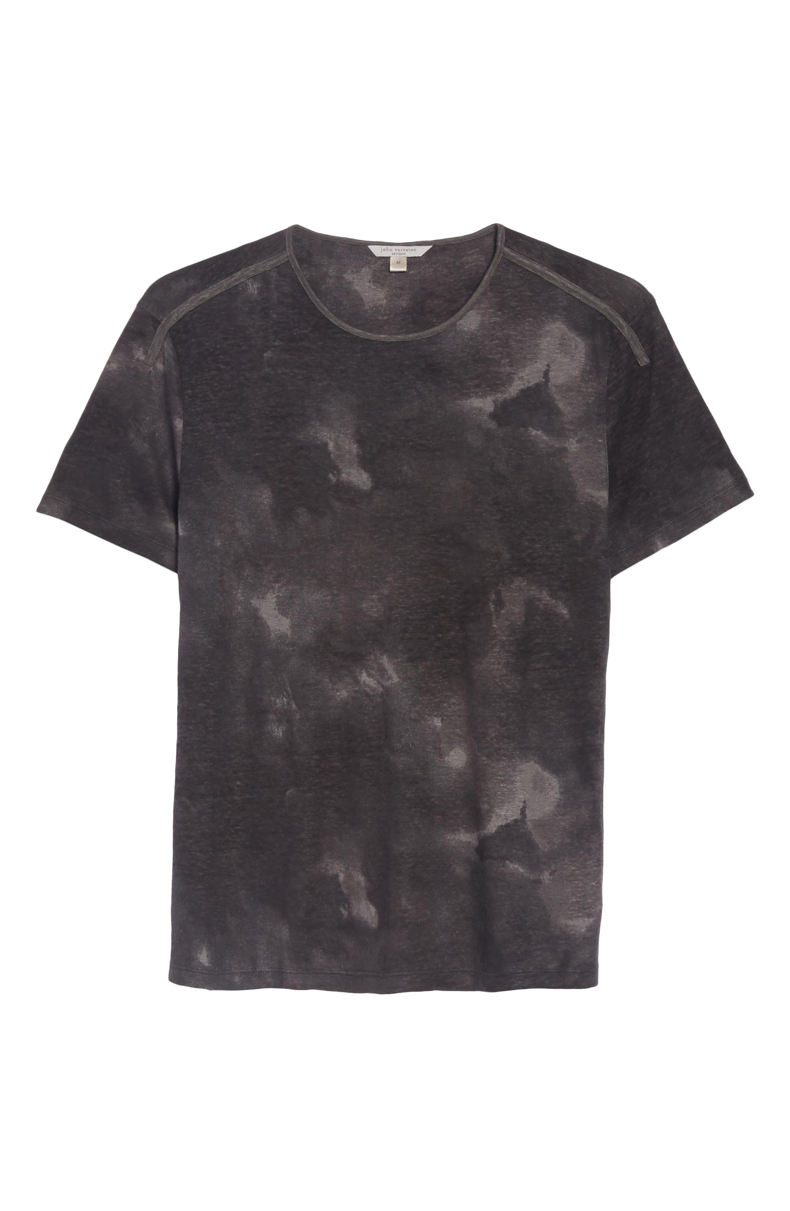 Tie Dye T-Shirt,                             Alternate thumbnail 6, color,                             DARK GREY