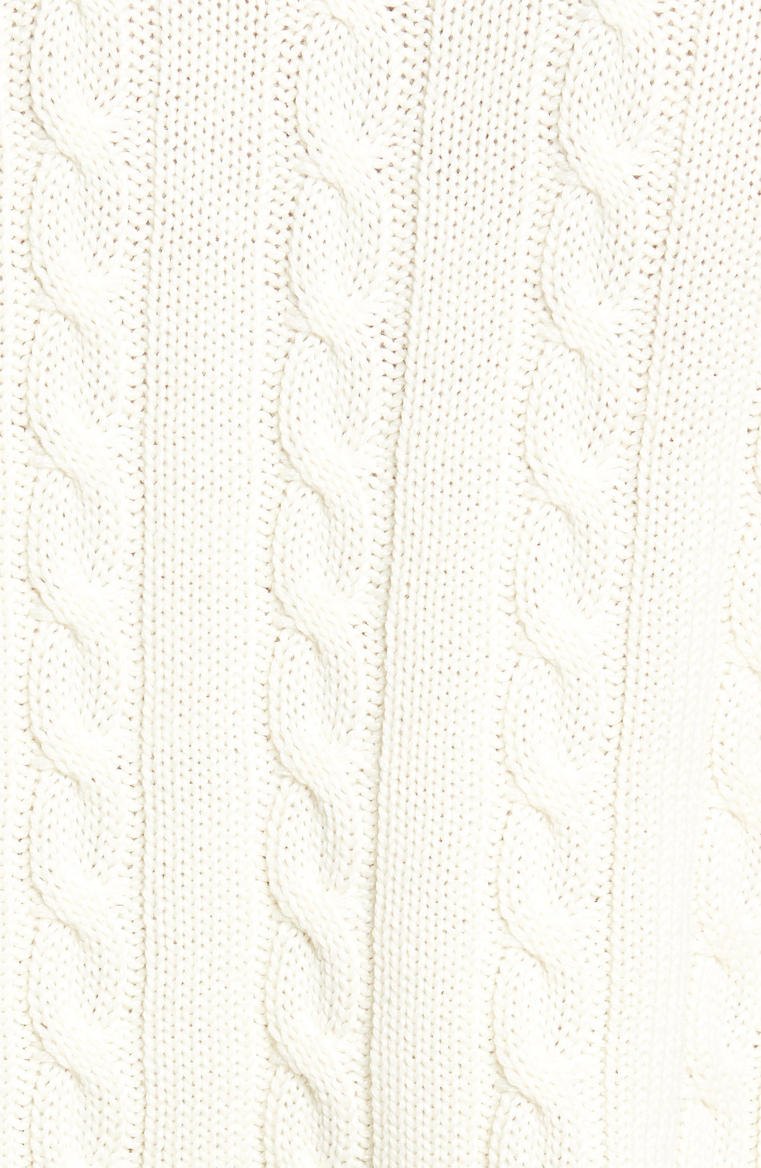 Wool Blend Cable Knit Sweater,                             Alternate thumbnail 6, color,                             ECRU