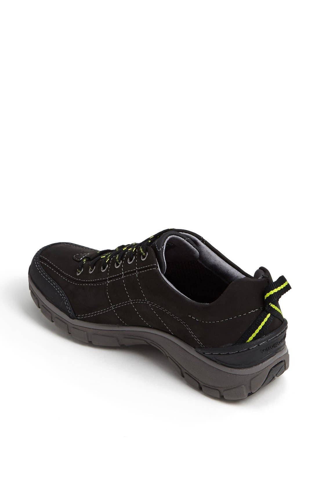 'Wave Trek' Waterproof Sneaker,                             Alternate thumbnail 4, color,                             BLACK