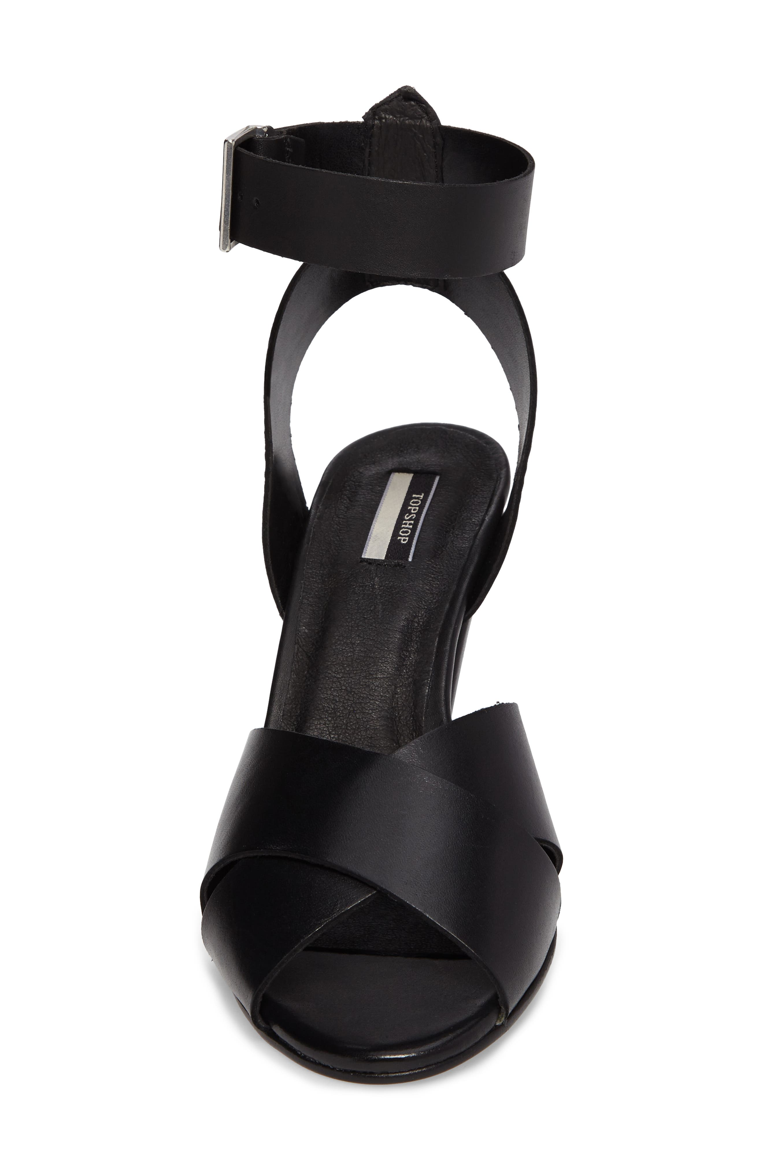 Nazia Statement Heel Sandal,                             Alternate thumbnail 4, color,                             001