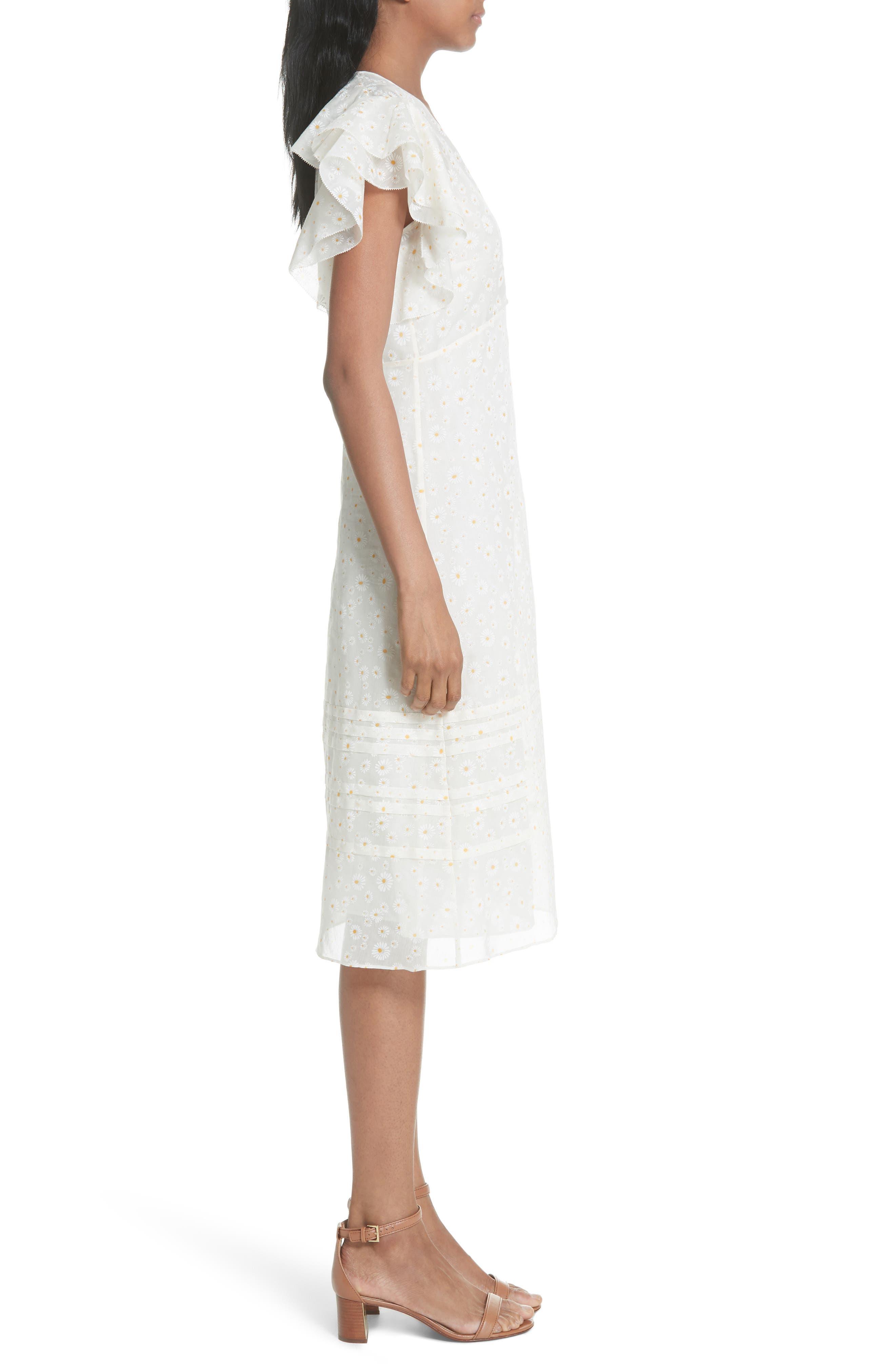 Susanna Flutter Sleeve Midi Dress,                             Alternate thumbnail 3, color,                             160