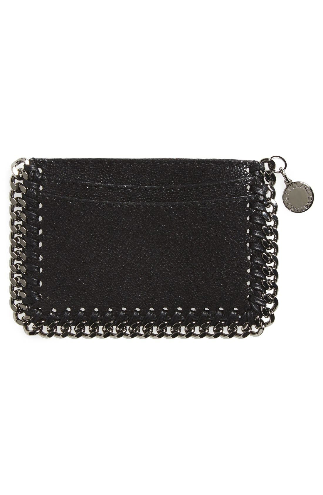 'Falabella - Shaggy Deer' Card Case,                             Alternate thumbnail 2, color,                             BLACK