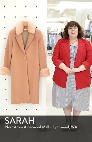 Perry Faux Fur Trim Coat, sales video thumbnail